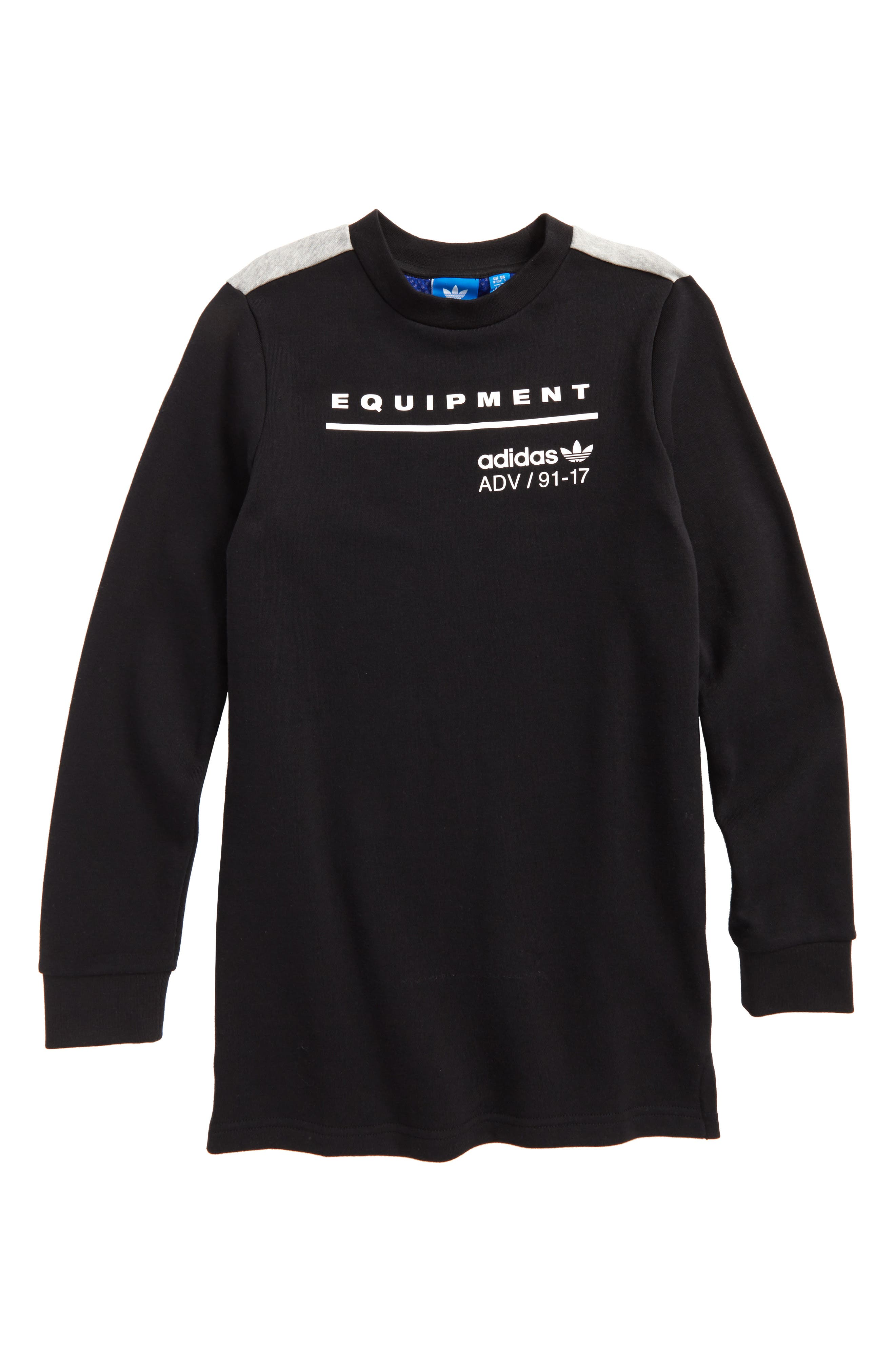 adidas Originals EQT Graphic Long Sleeve Pullover (Little Boys & Big Boys)