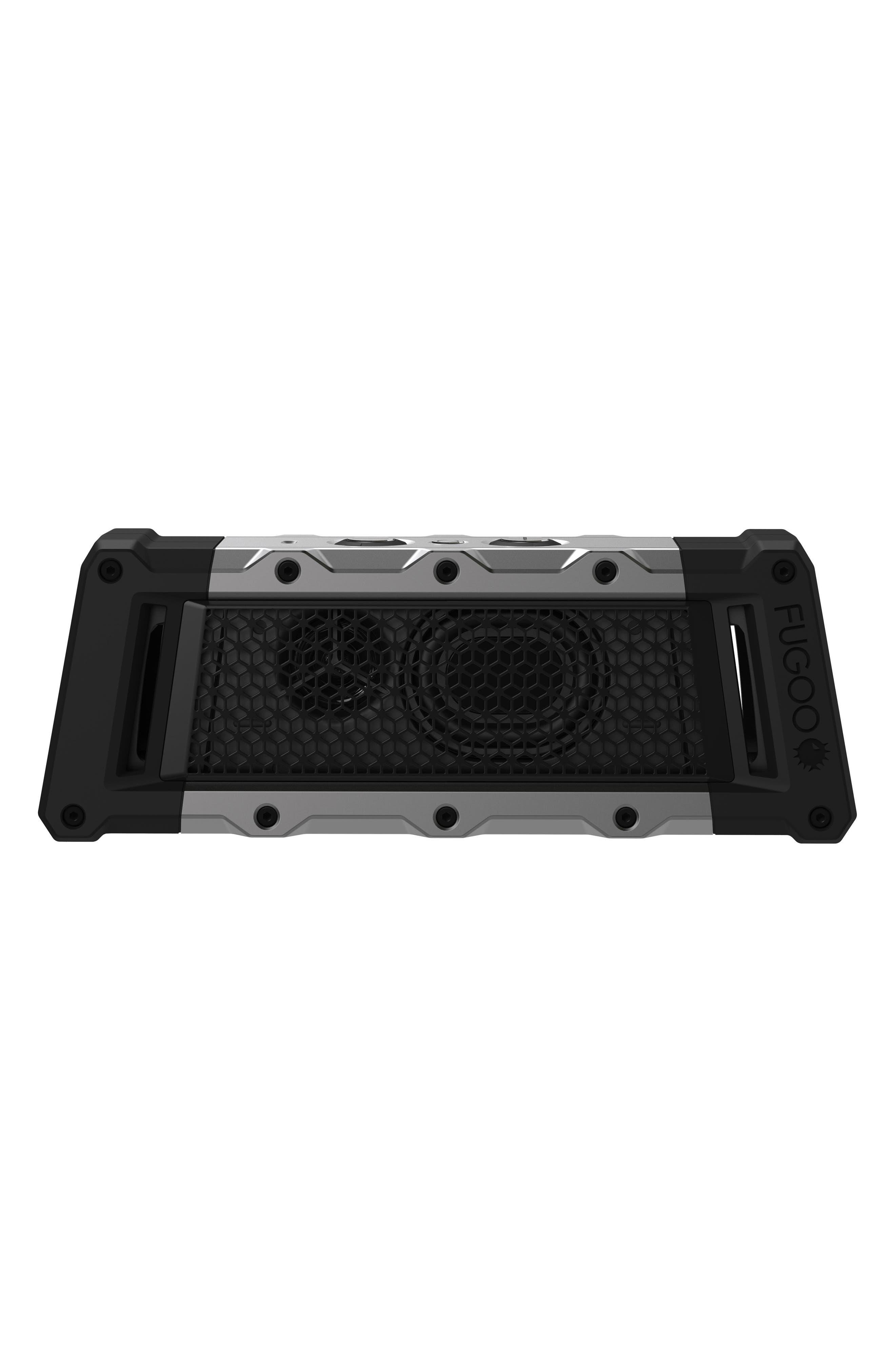 Tough Waterproof Bluetooth Speaker,                         Main,                         color, Black/ Silver