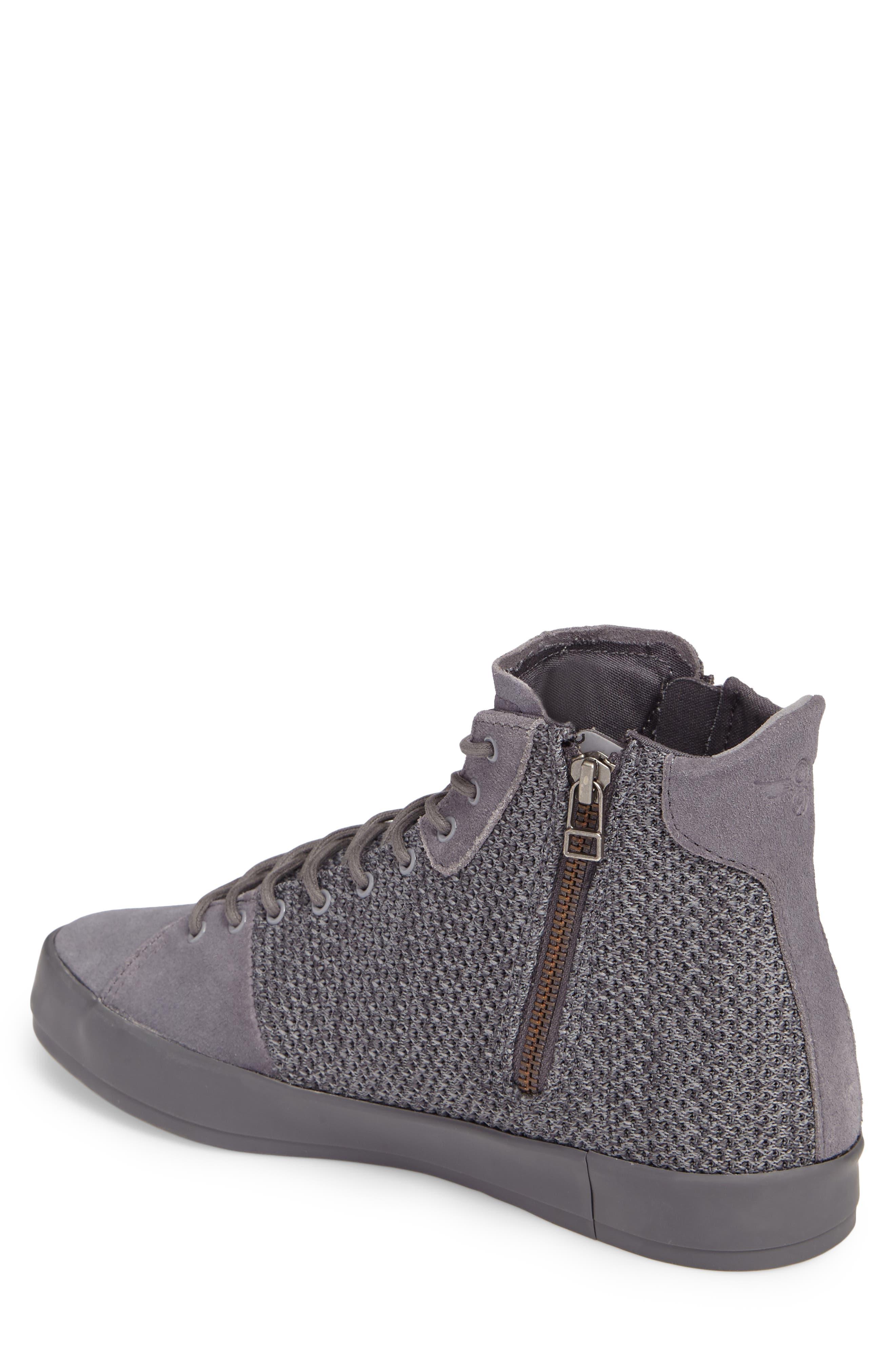 Carda Hi Sneaker,                             Alternate thumbnail 2, color,                             Smoke Leather