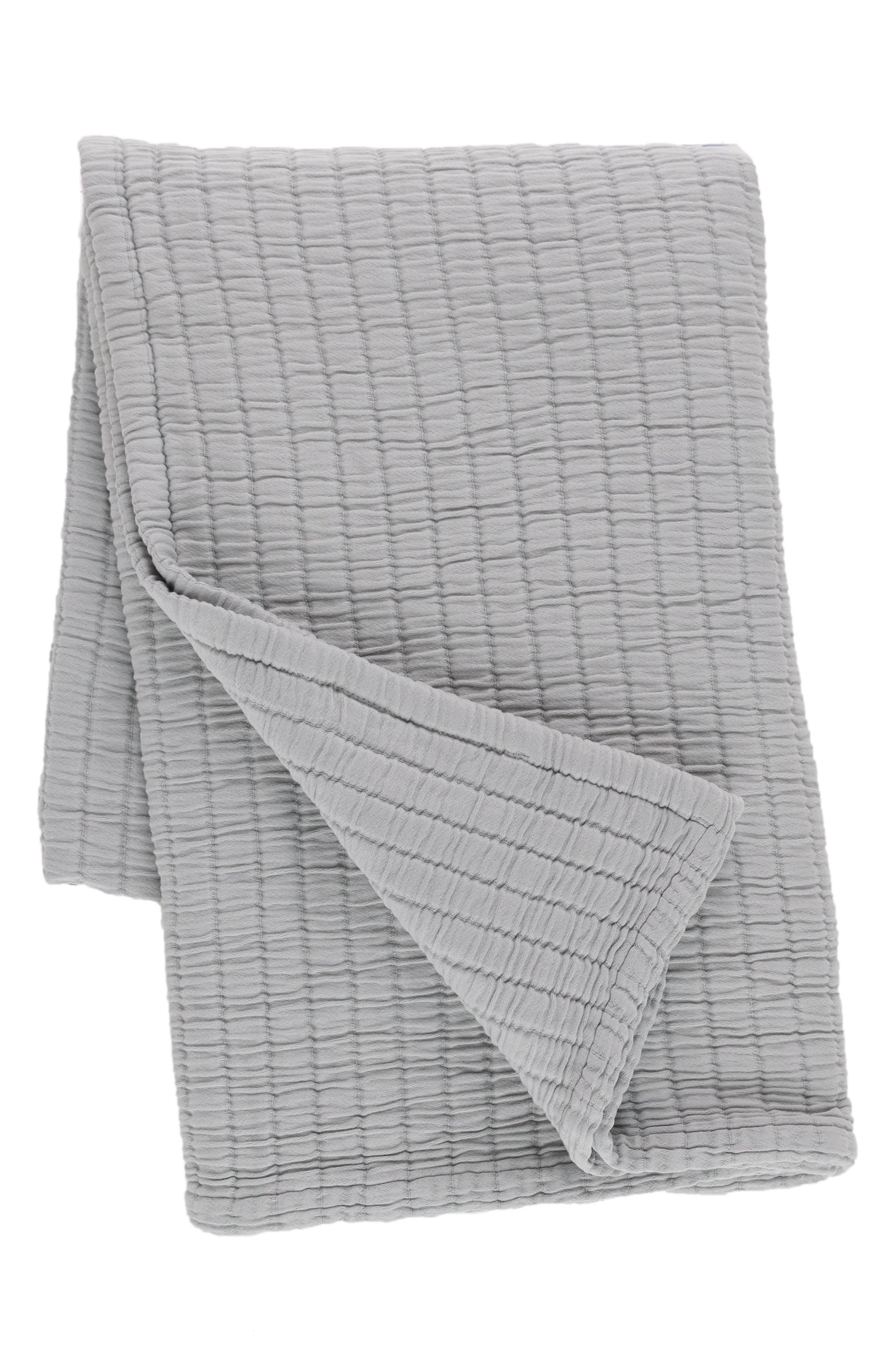 Matelassé Throw,                         Main,                         color, Grey