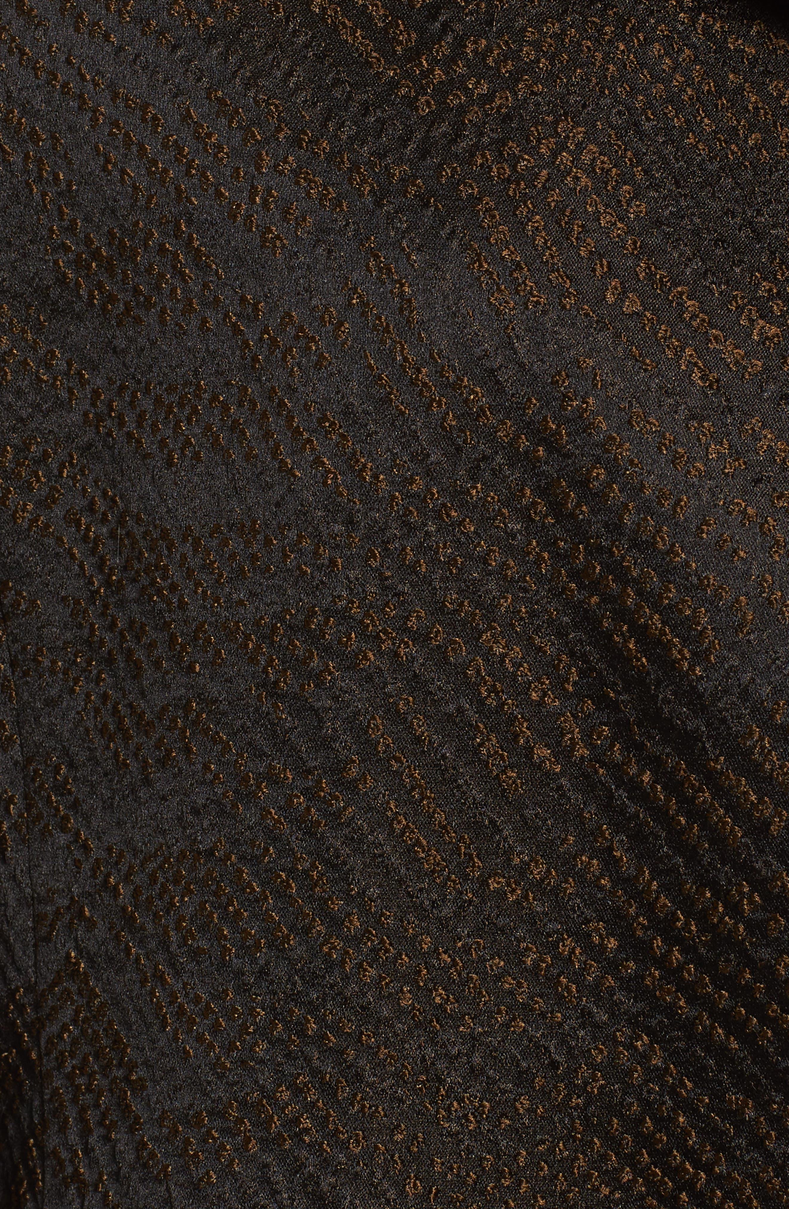Silk Blend Jacquard Jacket,                             Alternate thumbnail 6, color,                             Black