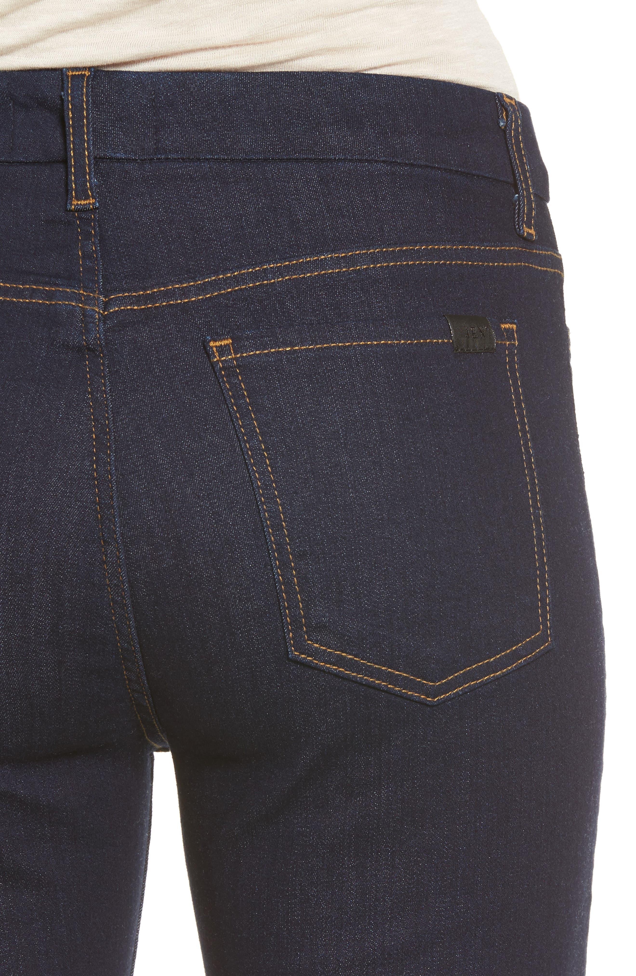 Alternate Image 4  - Jen7 Stretch Slim Straight Leg Jeans (Riche Touch Estancia Blue)
