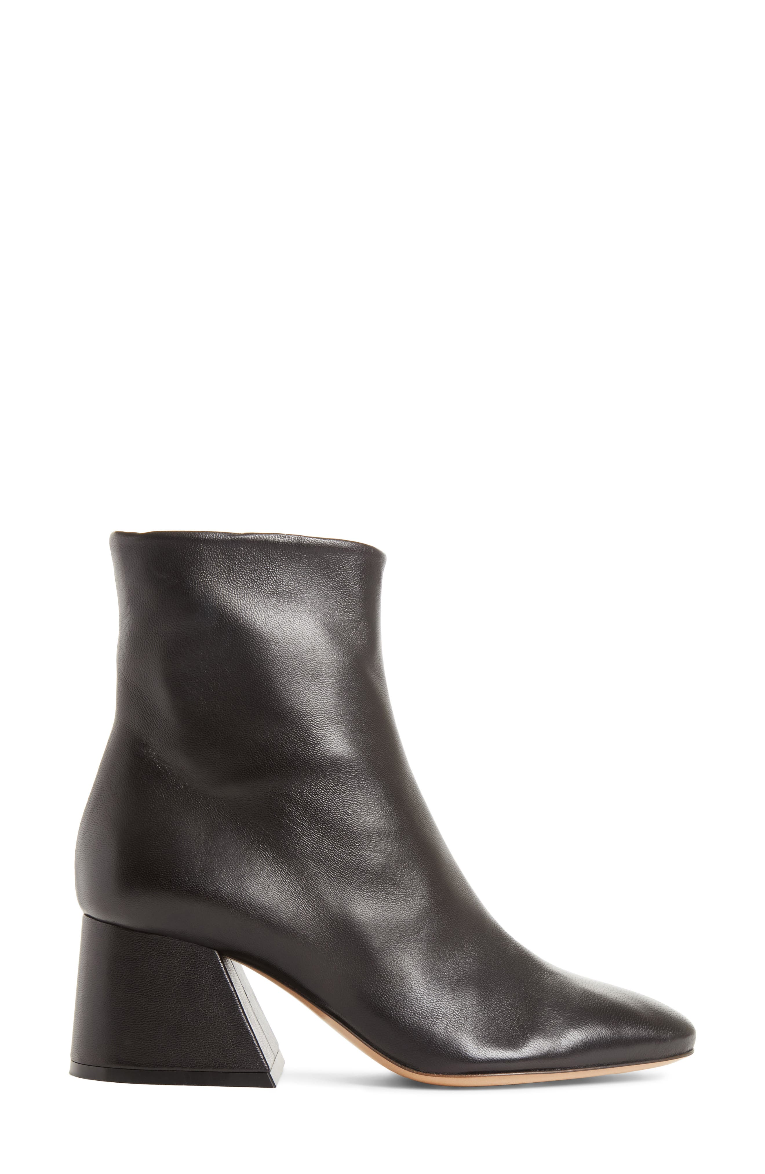 Flare Heel Ankle Boot,                             Alternate thumbnail 3, color,                             Black