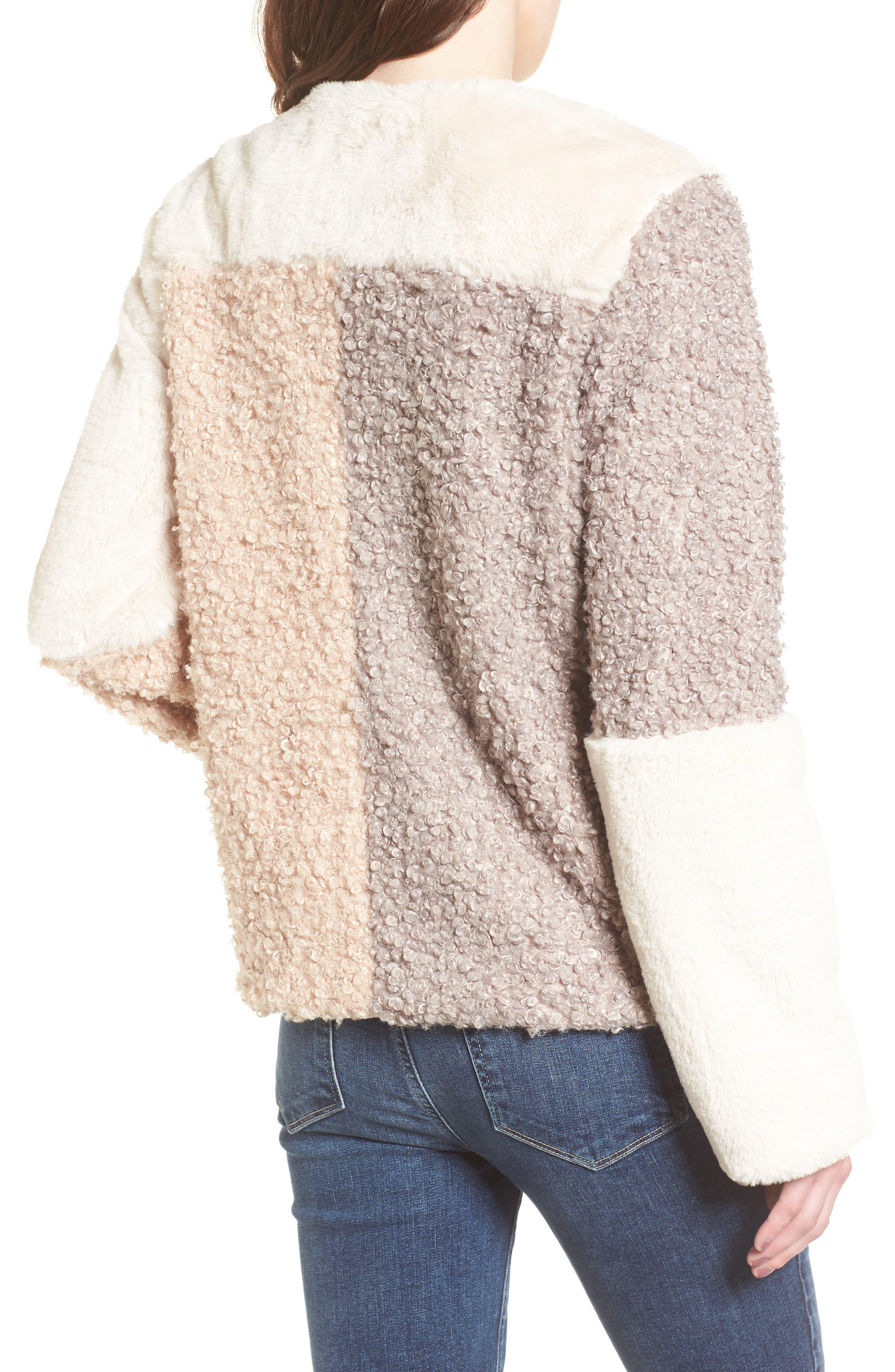 Alternate Image 2  - Sam Edelman Patchwork Faux Fur Coat