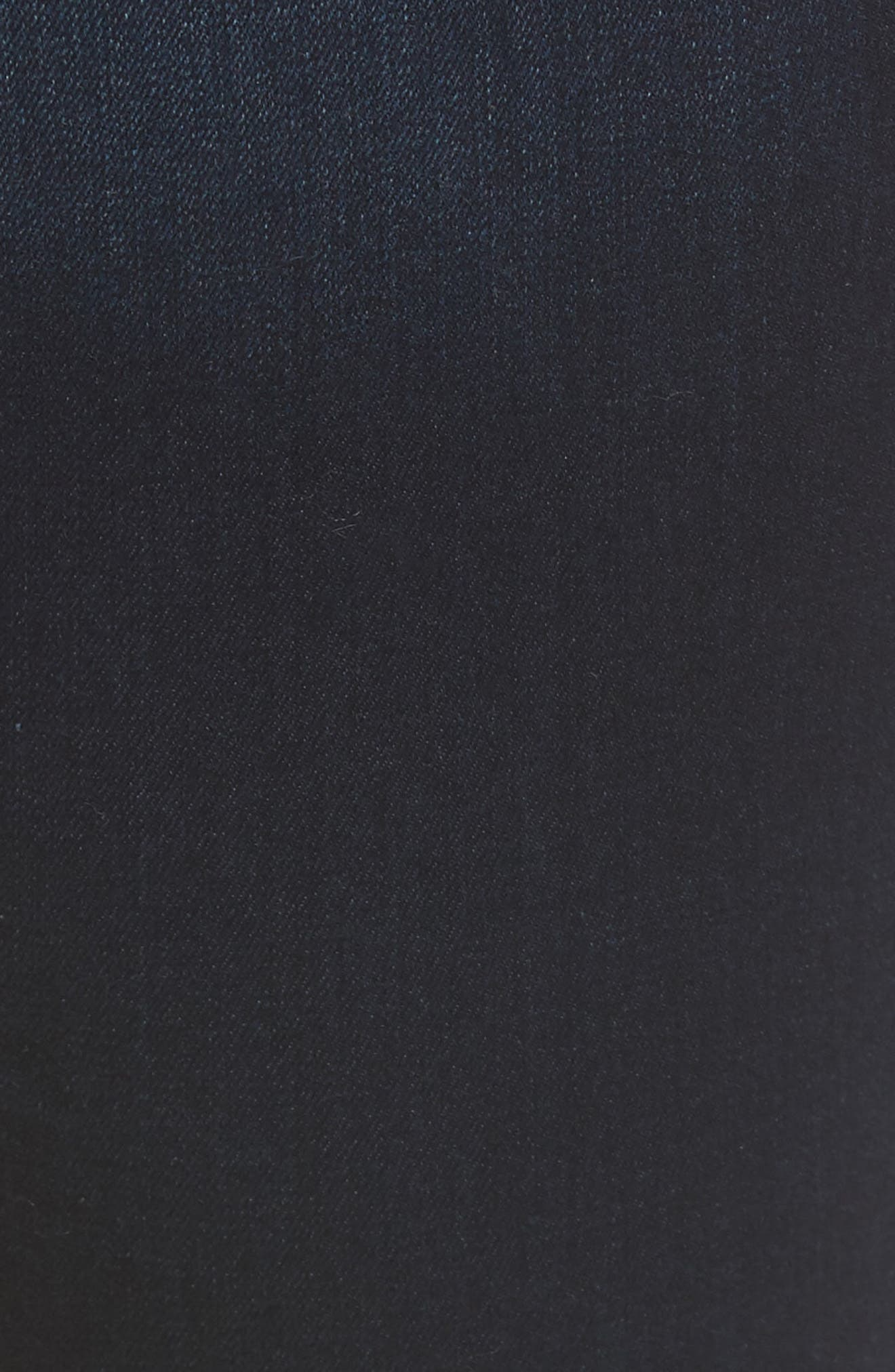 Slim Straight Jeans,                             Alternate thumbnail 5, color,                             Riche Touch Blue/ Black
