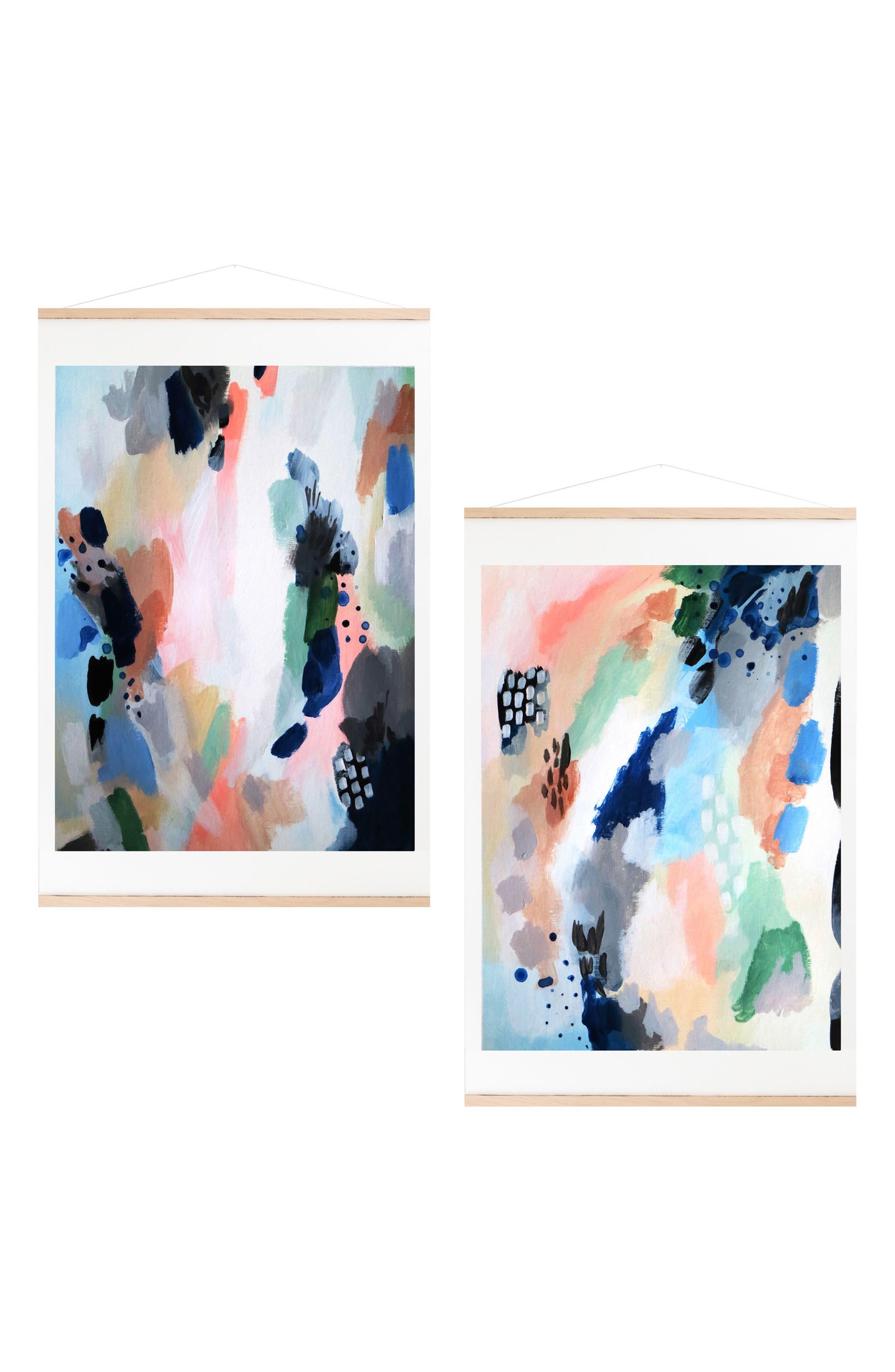 Impulse Set of 2 Art Prints,                         Main,                         color, Blue