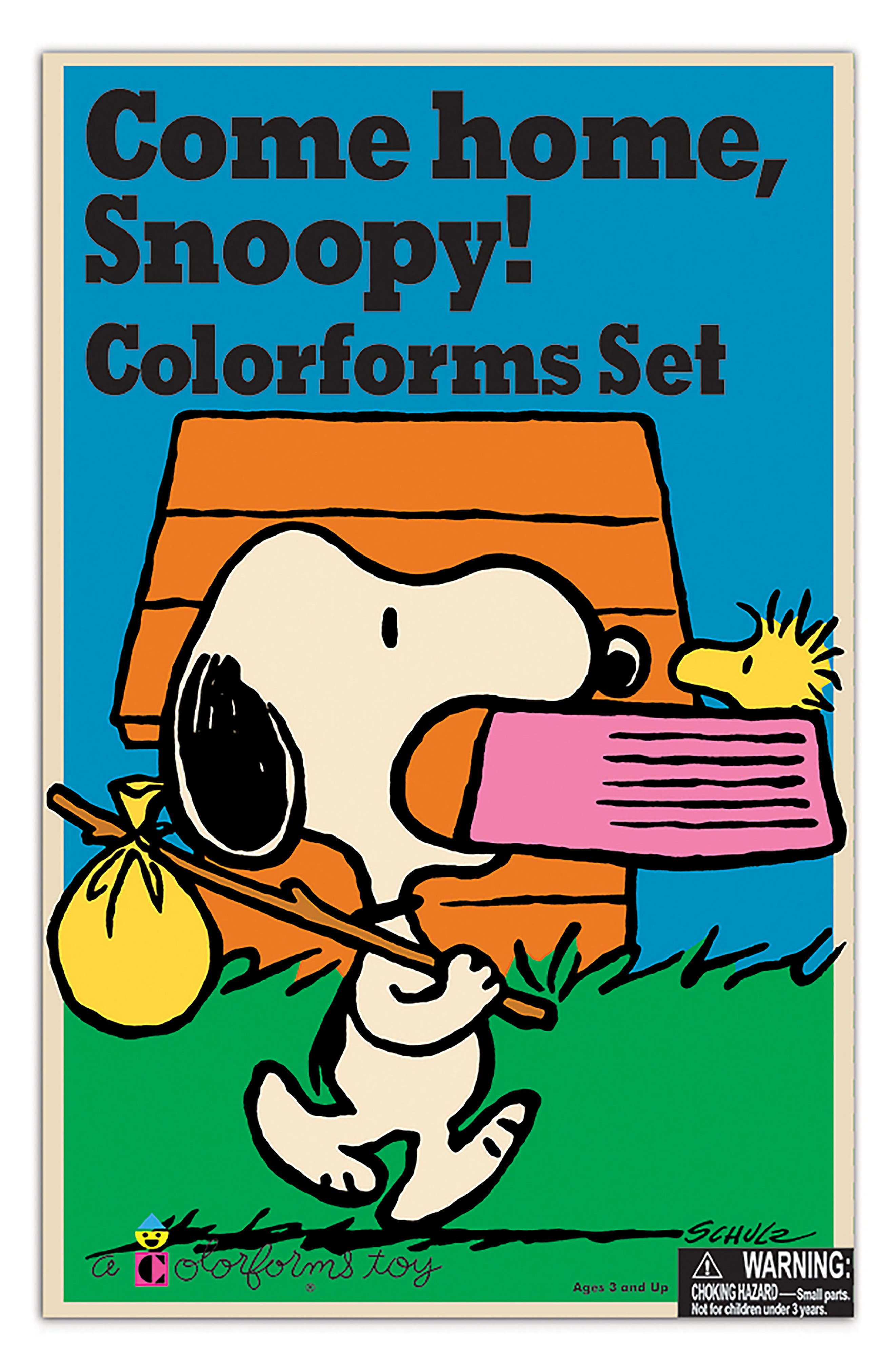 Colorforms Retro Come Home Snoopy Stick-On Play Set