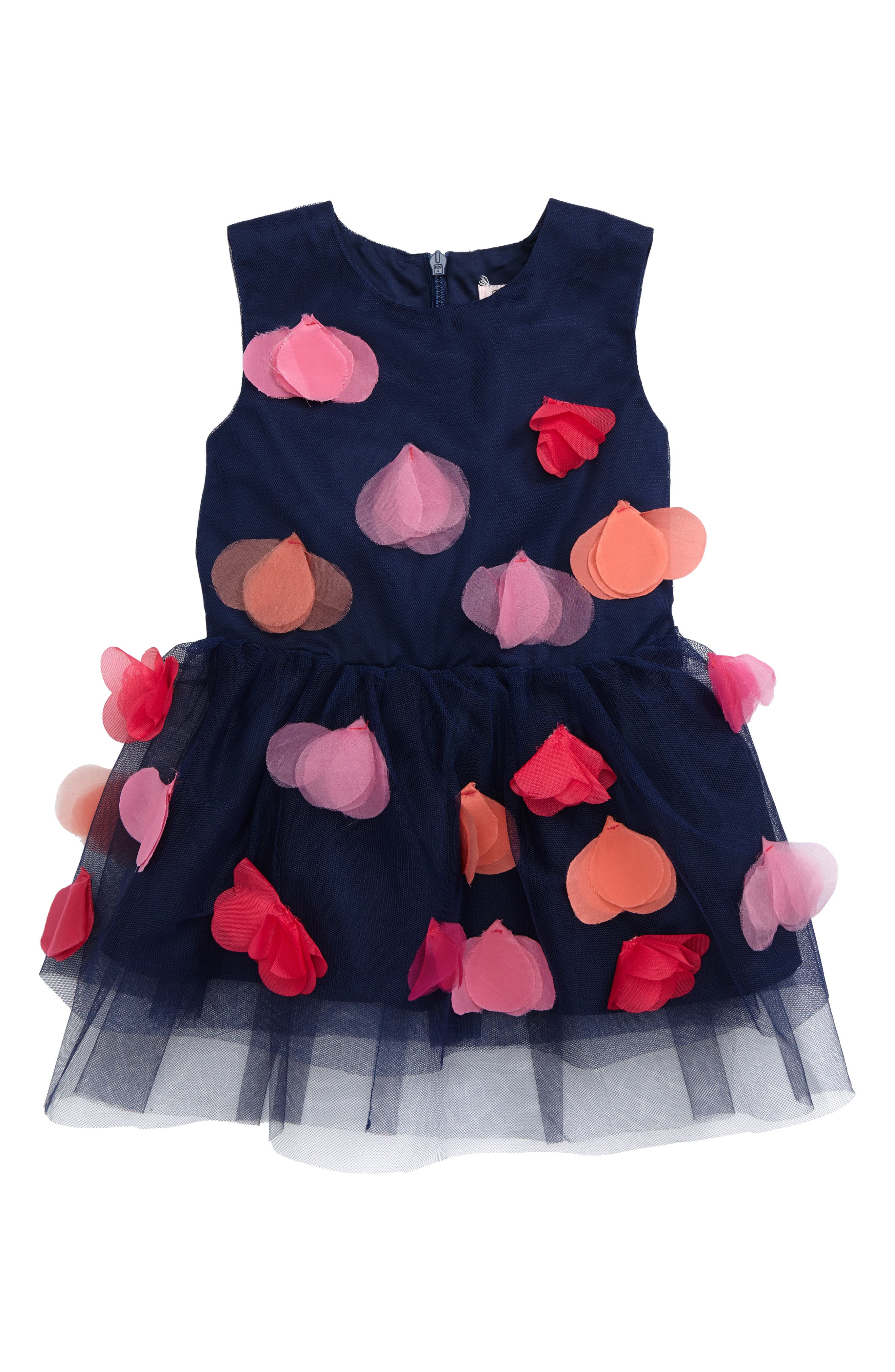 Halabaloo Aloha Flower Appliqué Dress (Baby Girls)
