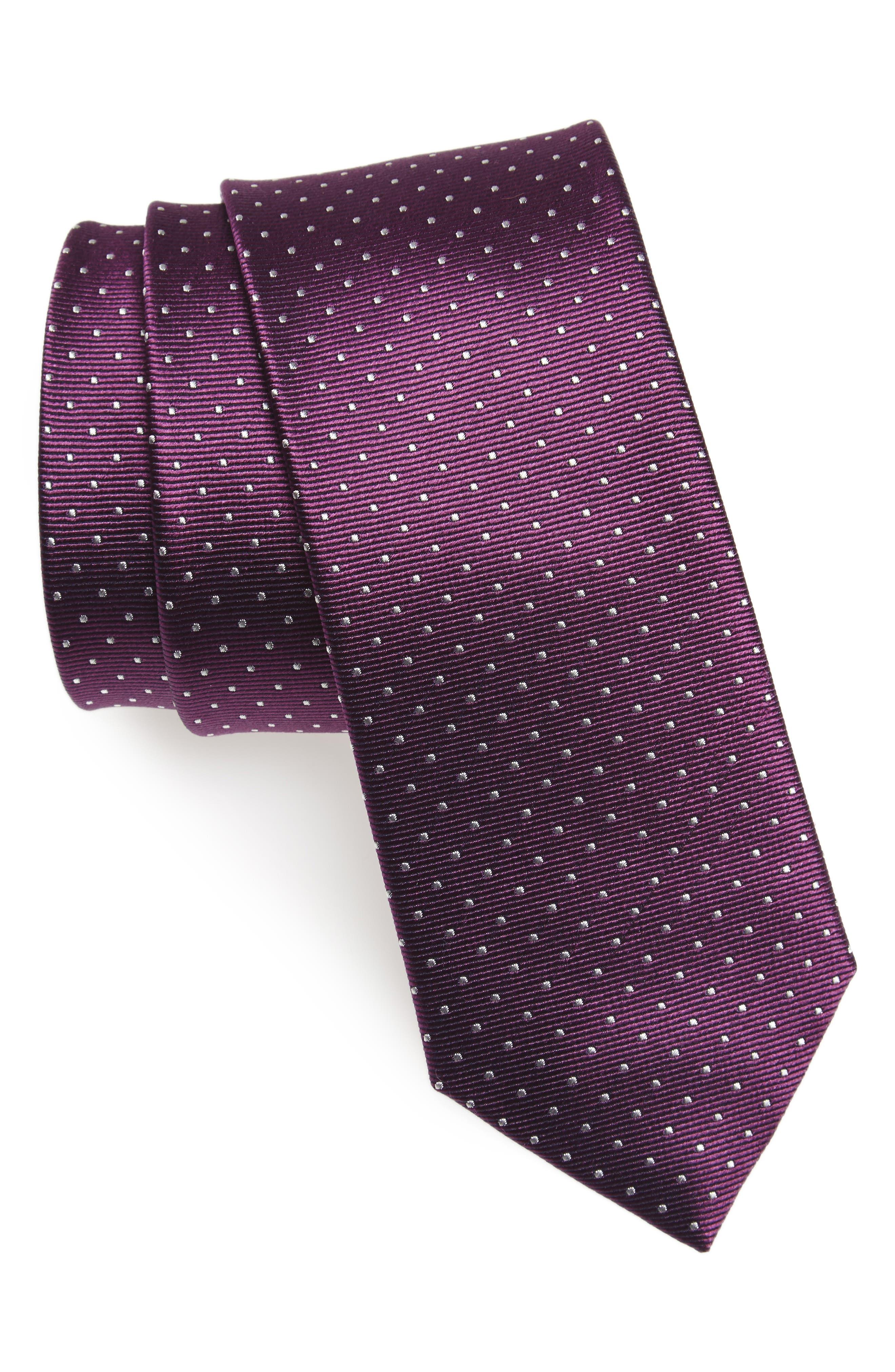 Main Image - The Tie Bar Mini Dots Silk Tie