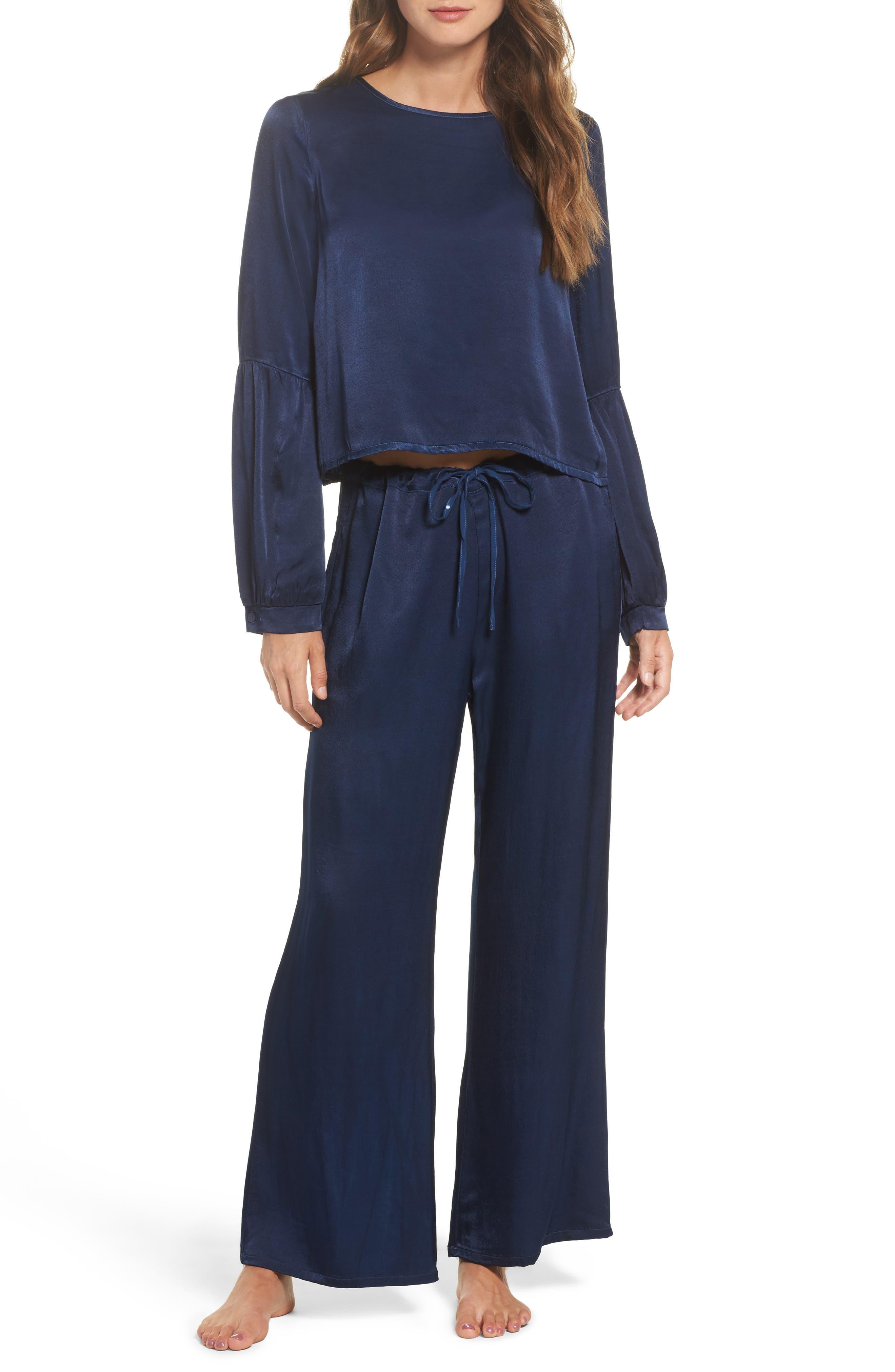 Vela Pajama Pants,                             Alternate thumbnail 6, color,                             Oxford
