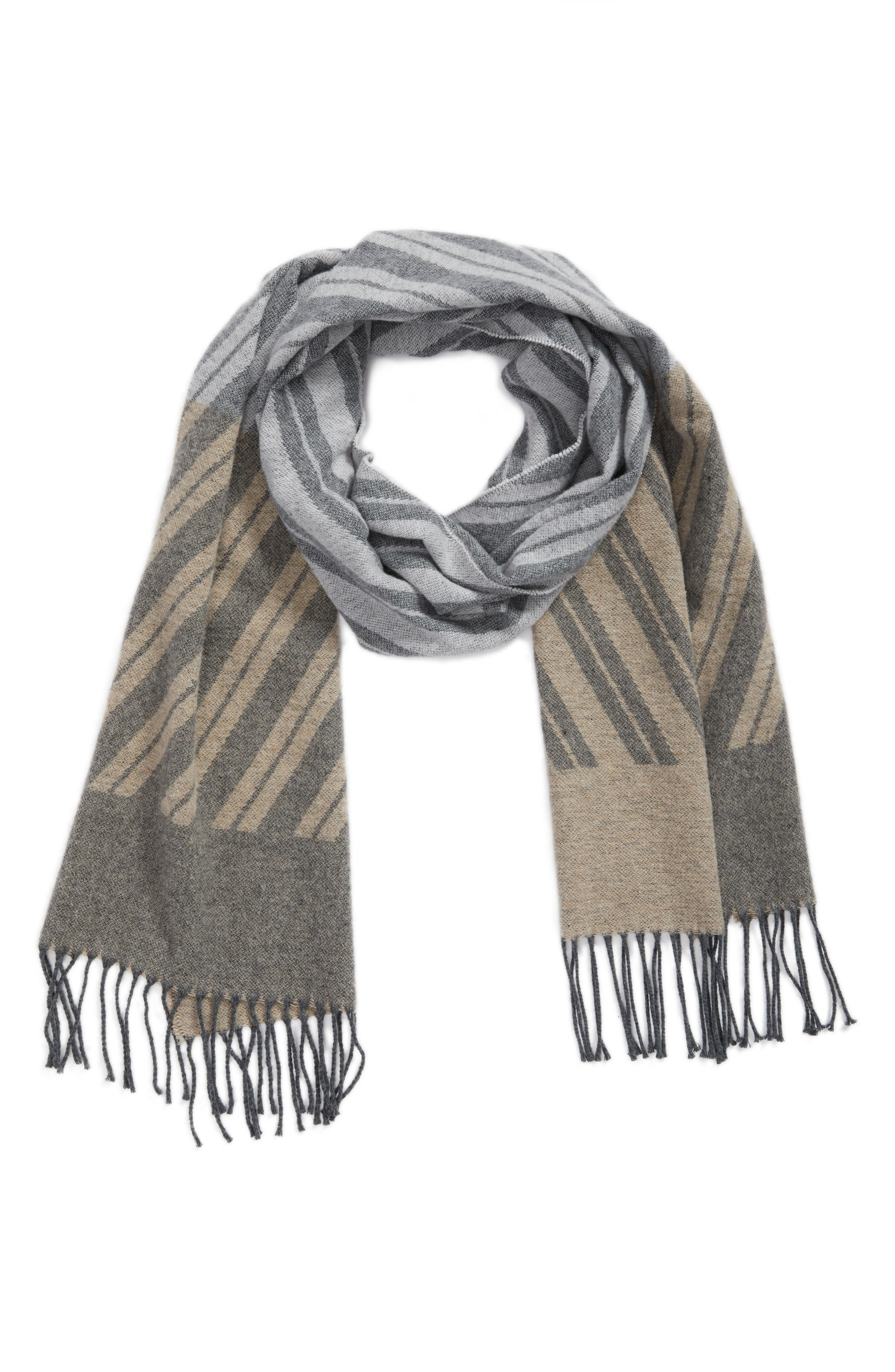 Alternate Image 2  - Eileen Fisher Colorblock Stripe Cotton Scarf