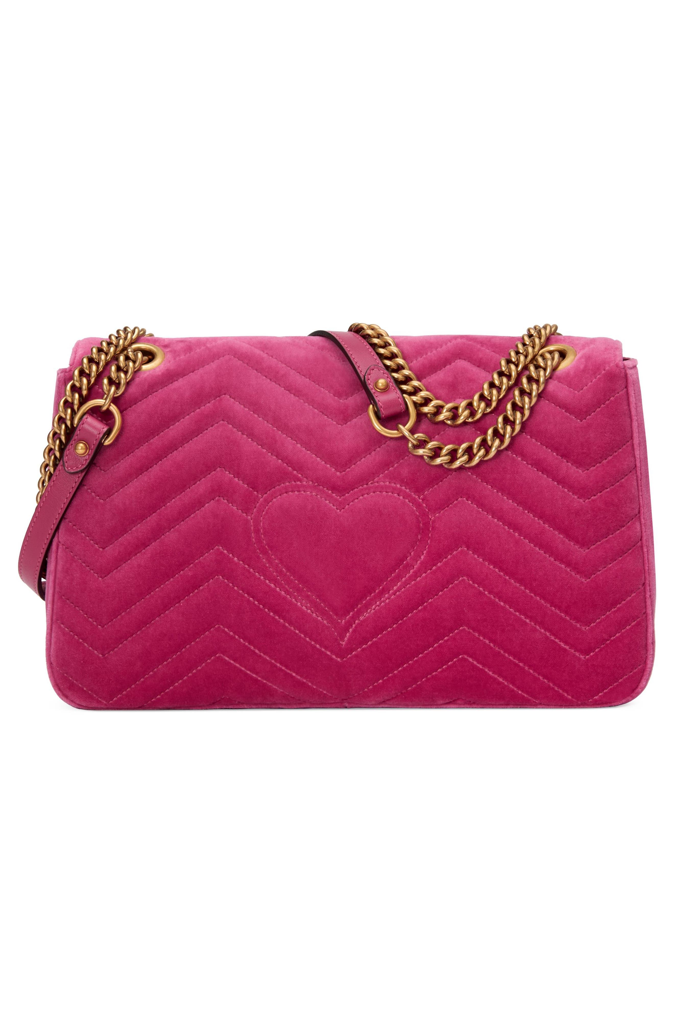 Alternate Image 2  - Gucci GG Marmont 2.0 Imitation Pearl Embellished Velvet Crossbody Bag
