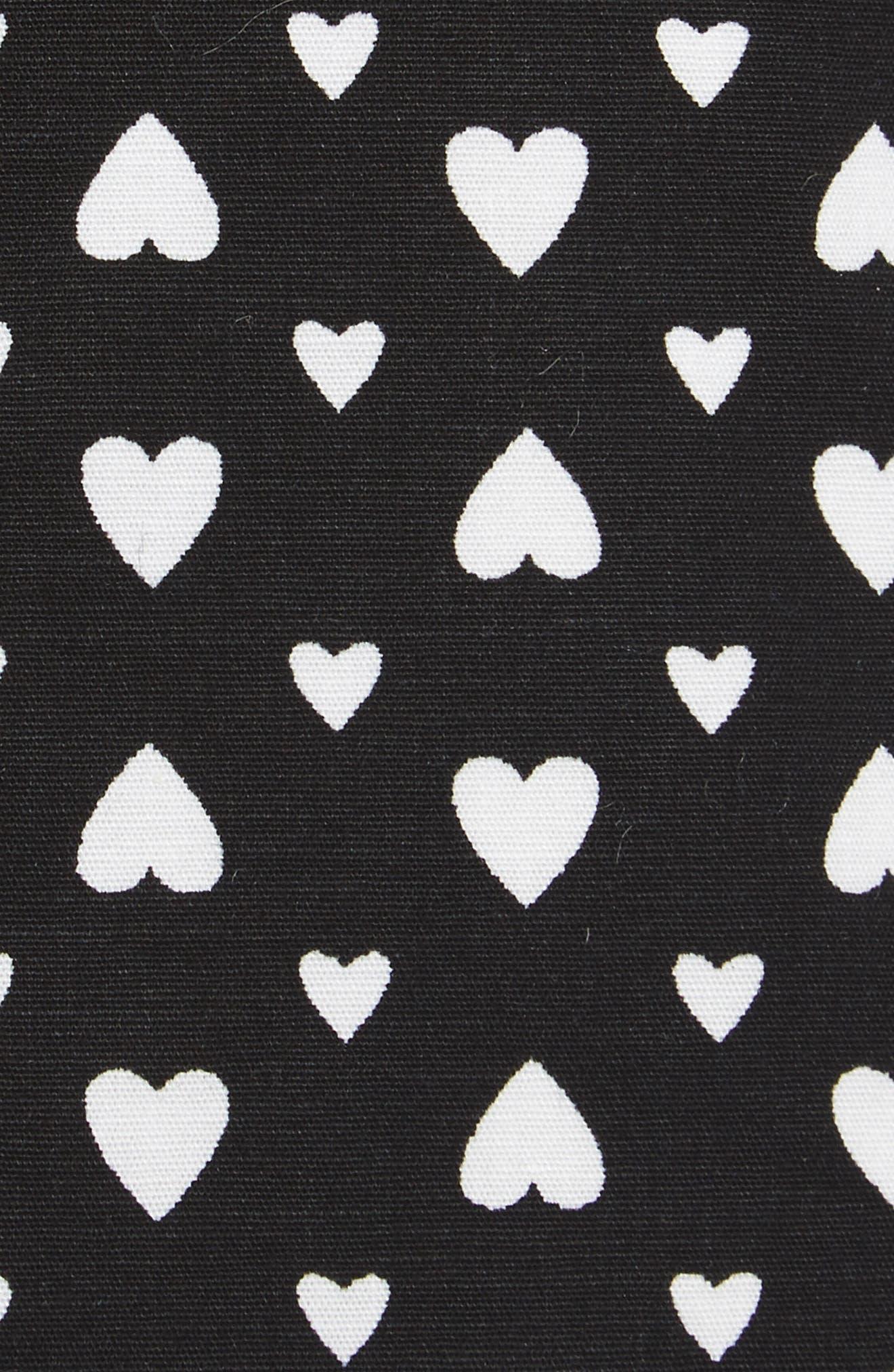 Alternate Image 2  - 1901 Hearts Print Skinny Tie