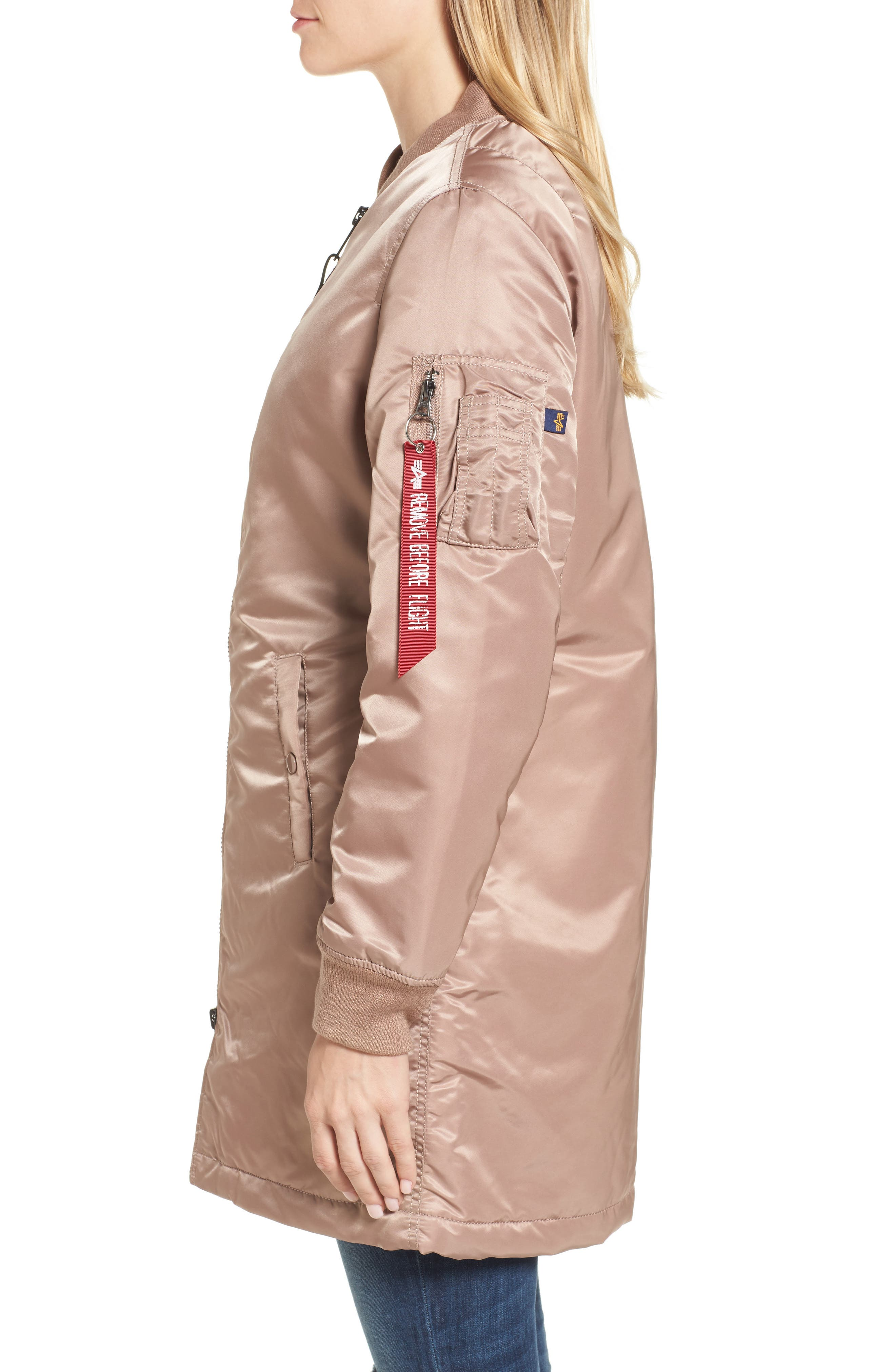 Alternate Image 3  - Alpha Industries Water Resistant Long MA-1 Jacket