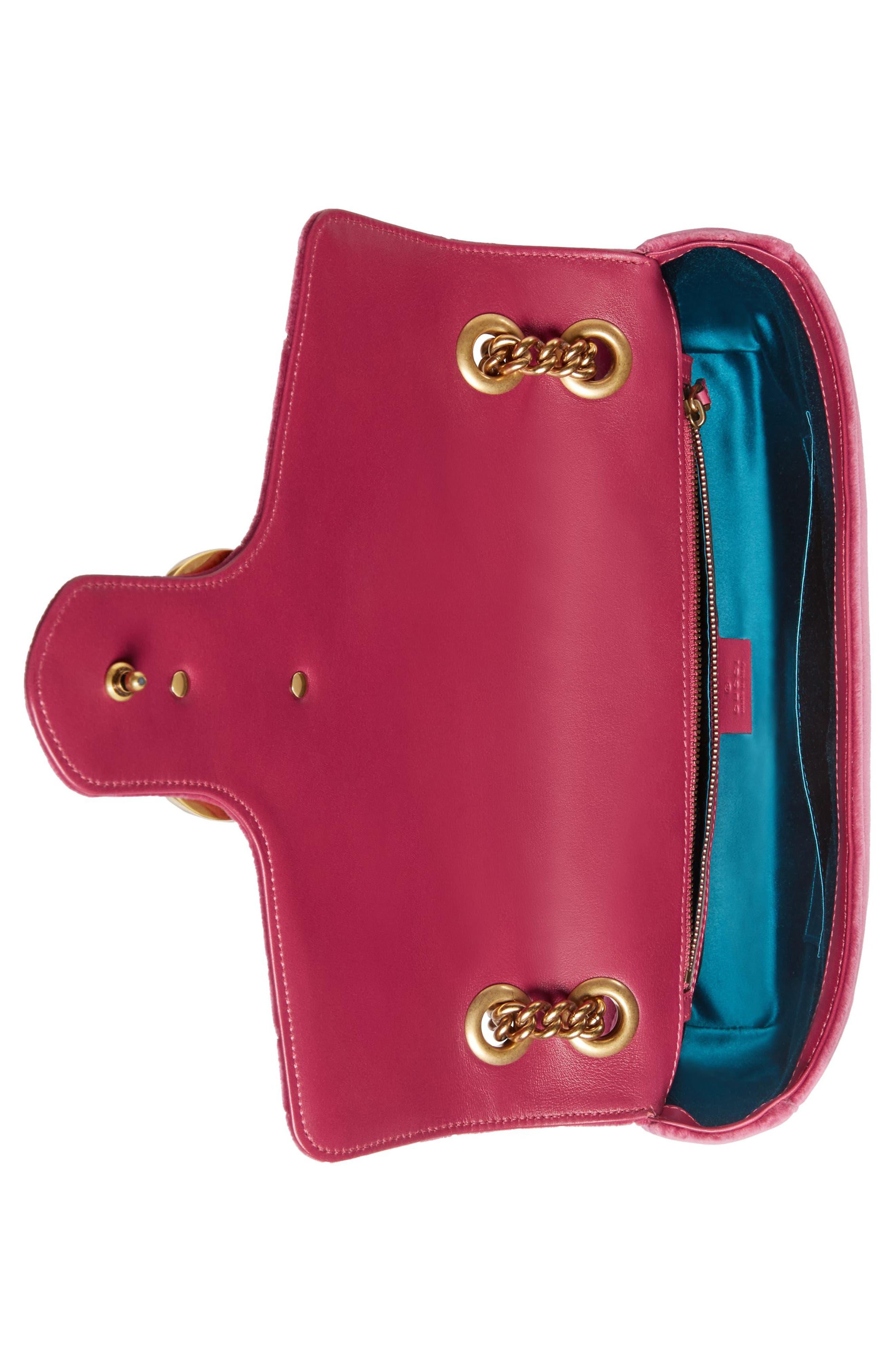 Alternate Image 3  - Gucci GG Marmont 2.0 Imitation Pearl Embellished Velvet Crossbody Bag