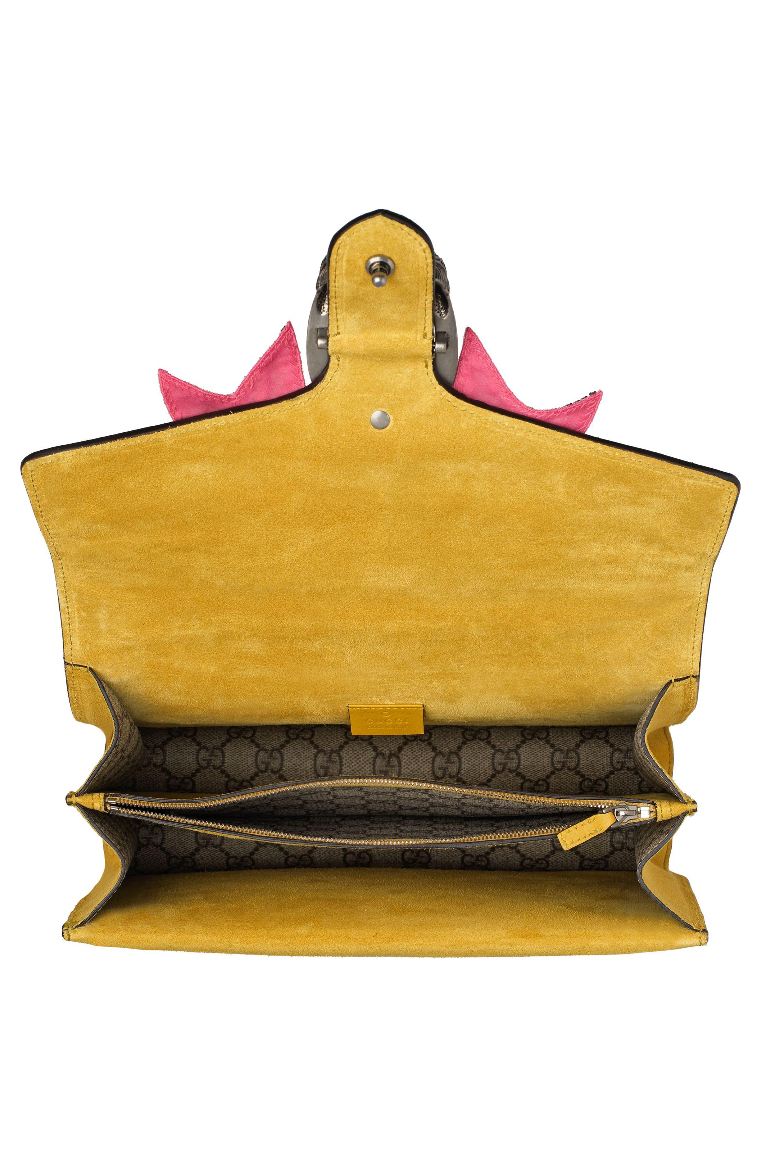 Medium Dionysus GG Supreme Canvas Shoulder Bag,                             Alternate thumbnail 3, color,                             Beige Ebony Crystal