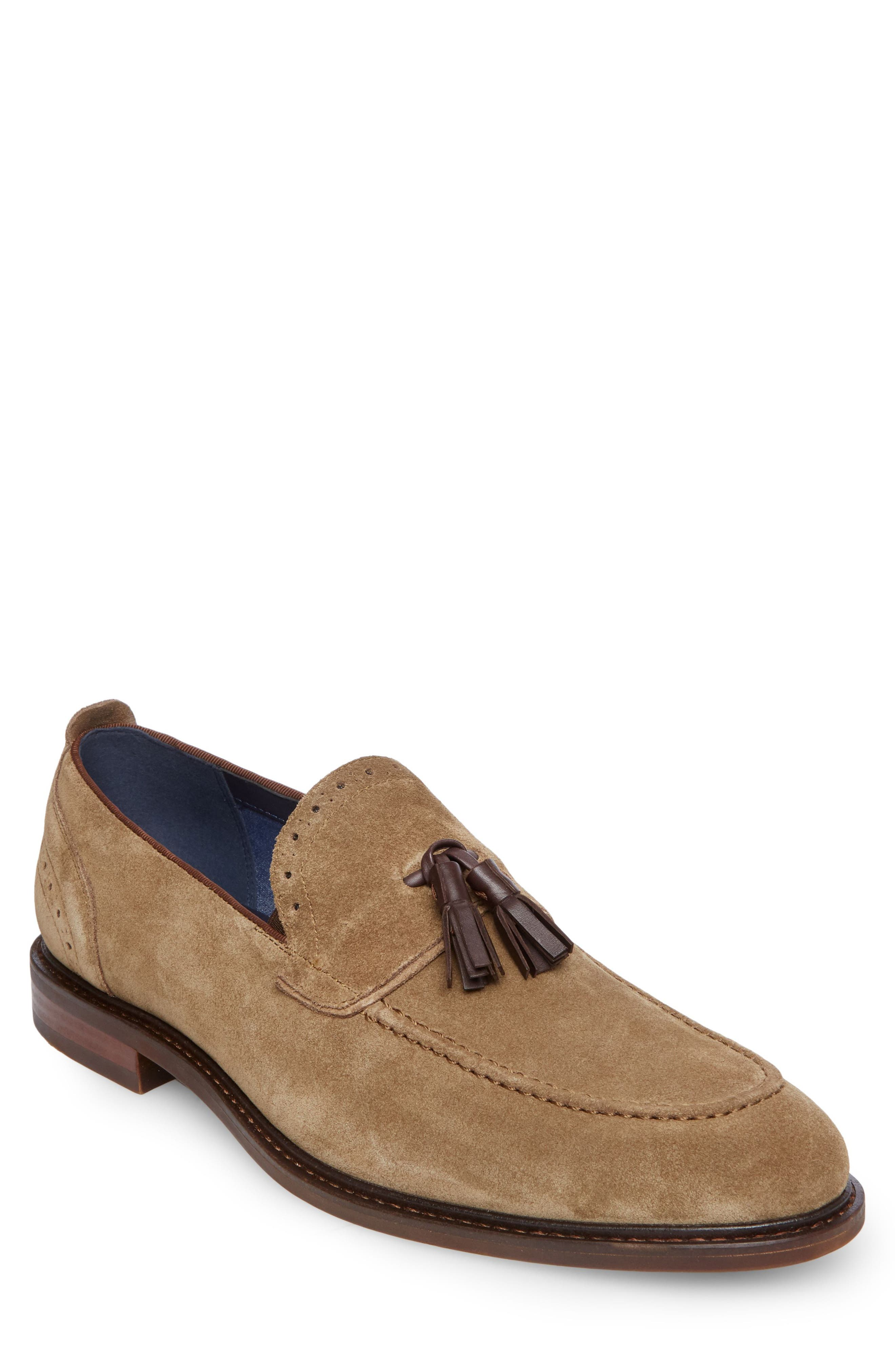 Bogart Tassel Loafer,                         Main,                         color, Olive Suede