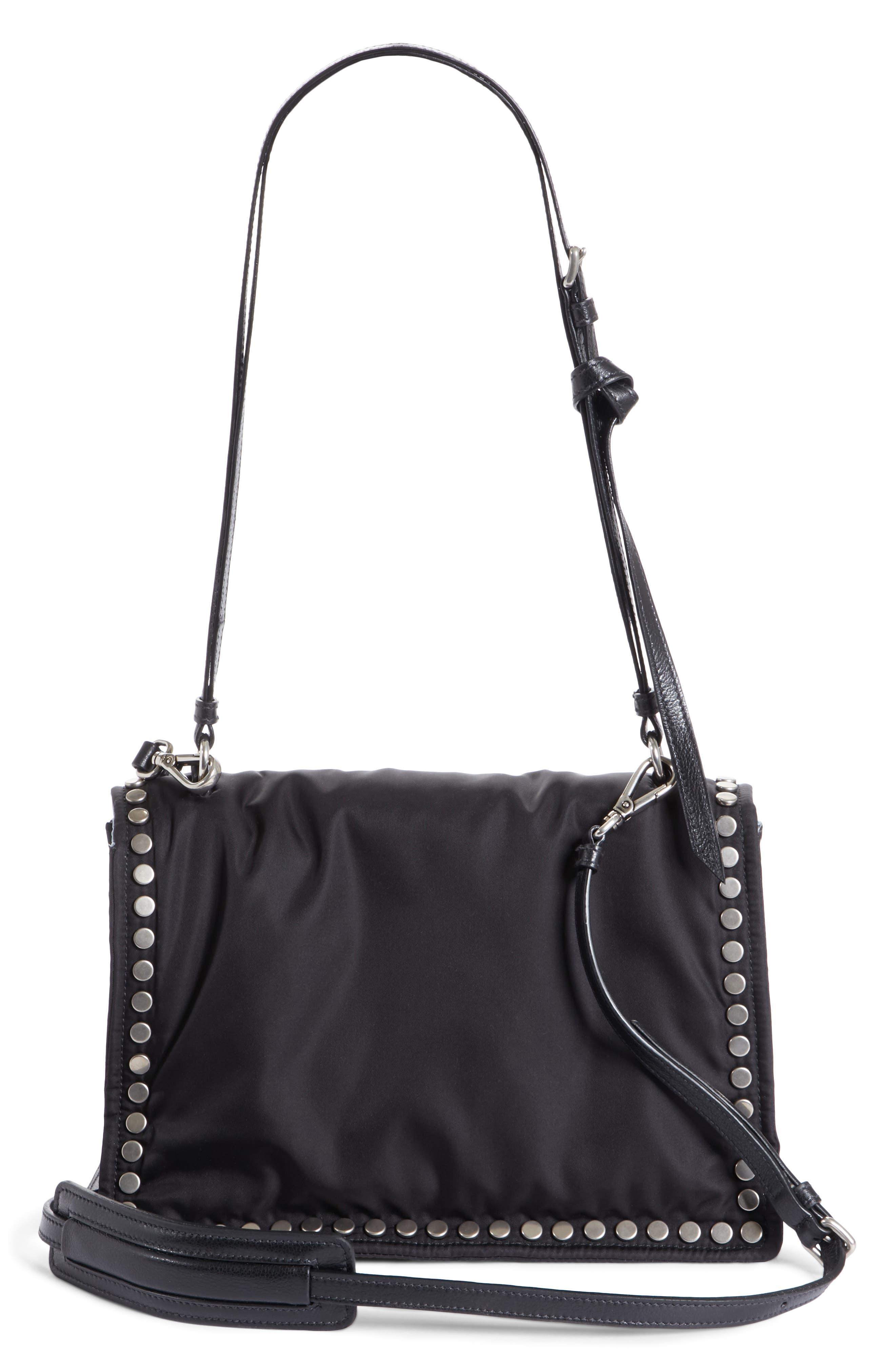 Medium Etiquette Tessuto Bag,                             Alternate thumbnail 3, color,                             Nero/ Astrale
