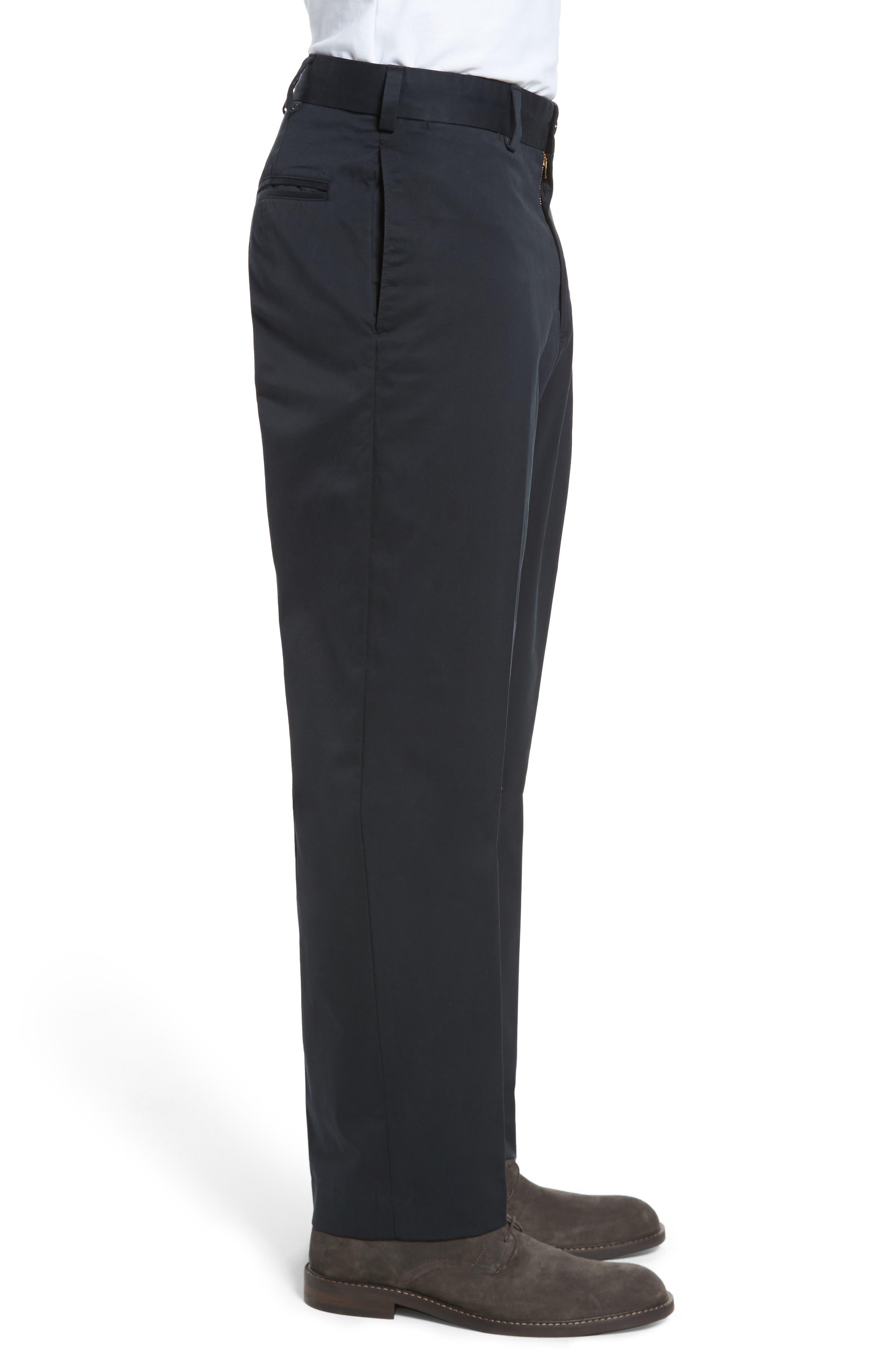 Classic Fit Chamois Cloth Pants,                             Alternate thumbnail 3, color,                             Black