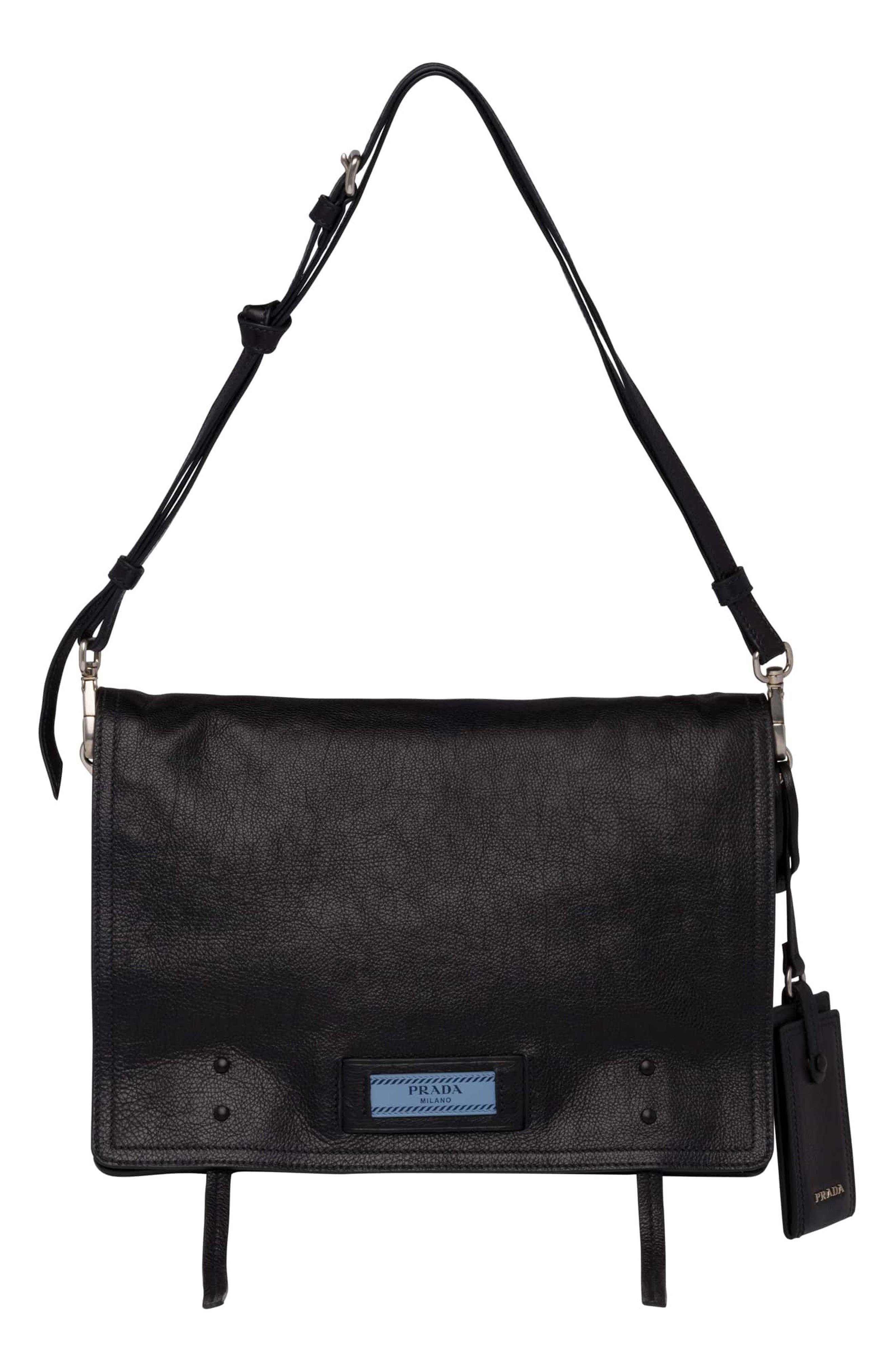 Alternate Image 1 Selected - Prada Cahier Glace Messenger Bag