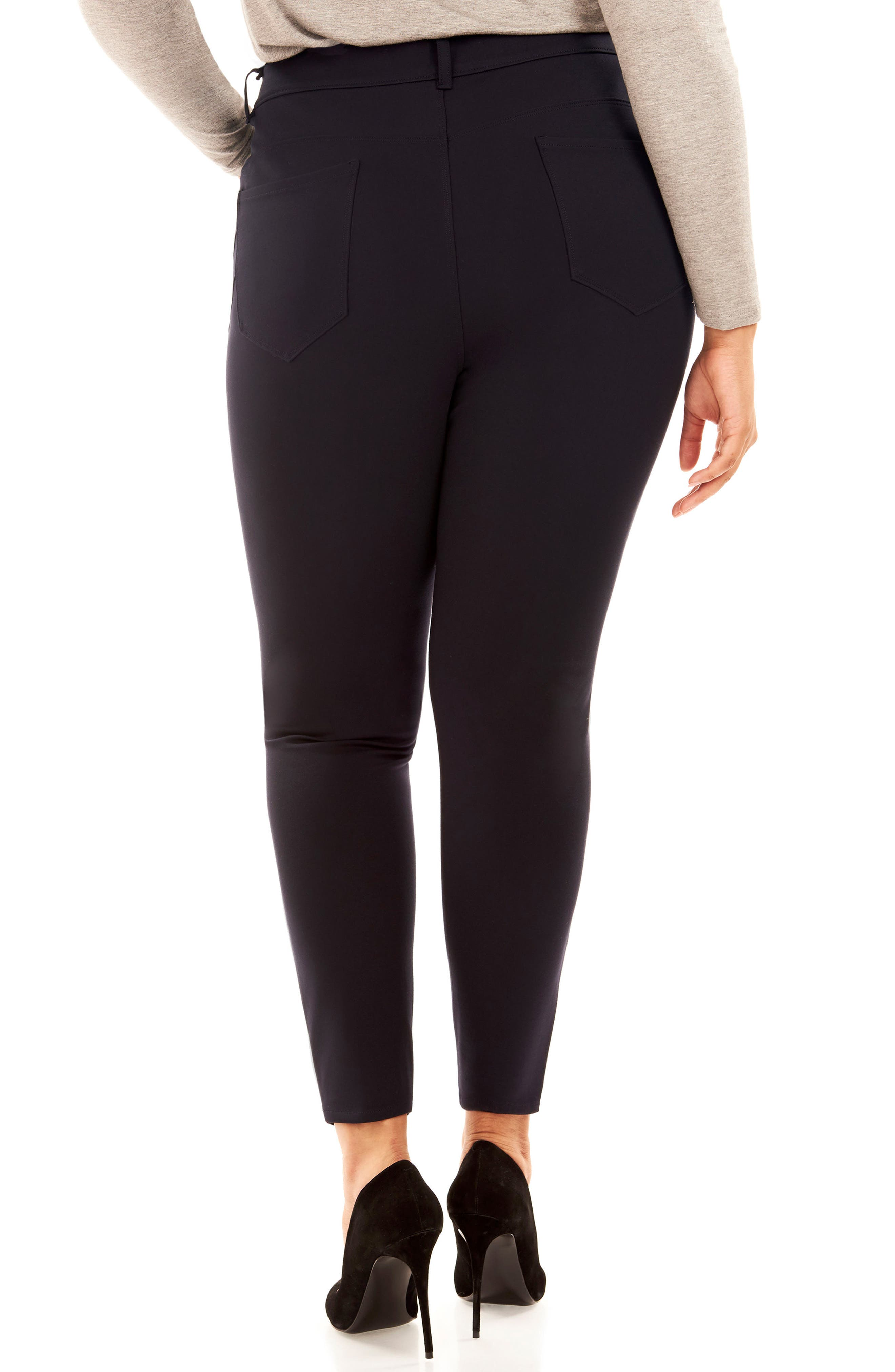 The Super Bass Midrise Ankle Pants,                             Alternate thumbnail 2, color,                             Navy