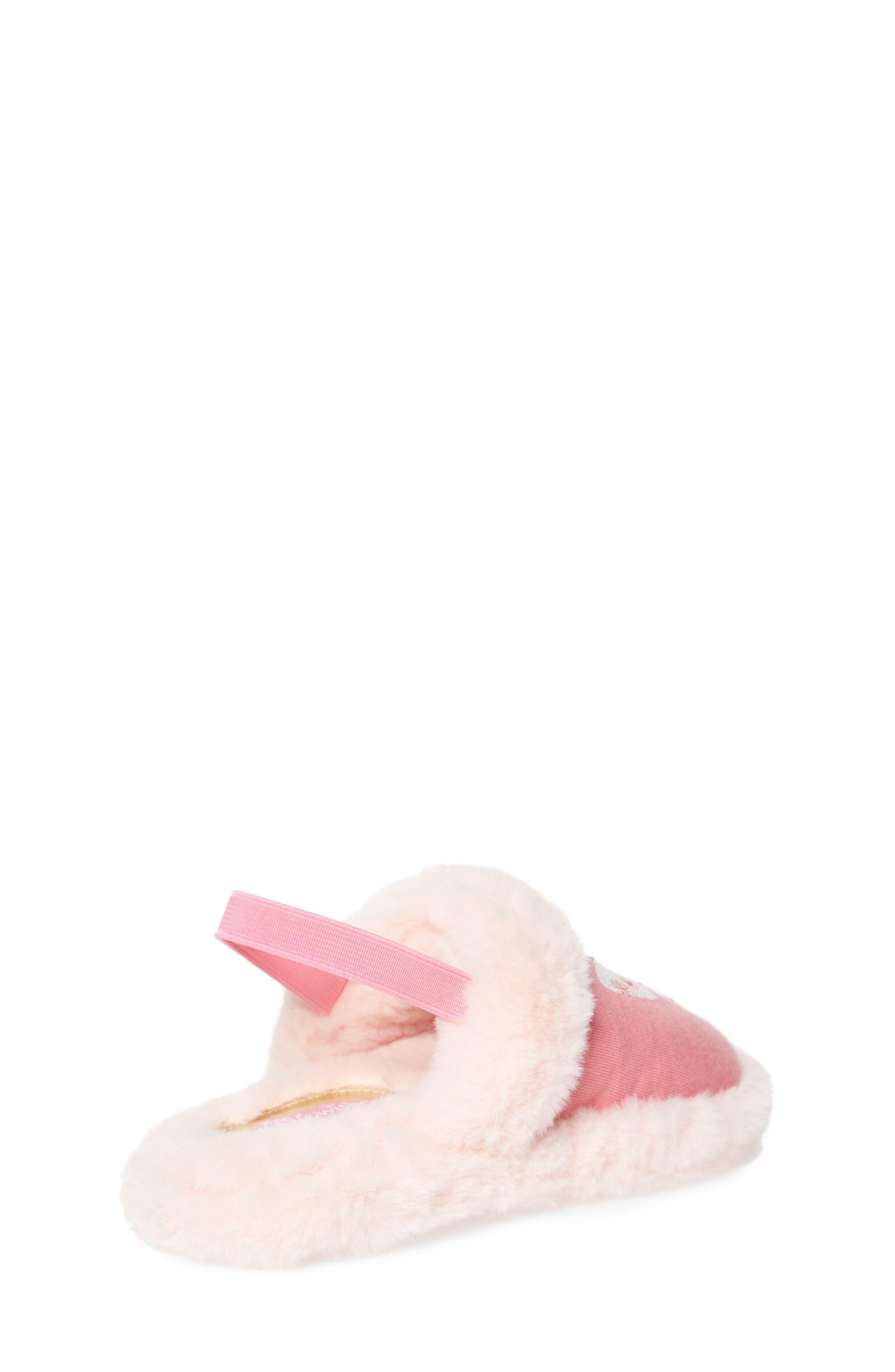 Alternate Image 2  - WellieWishers from American Girl Ashlyn Faux Fur Slipper (Walker & Toddler)