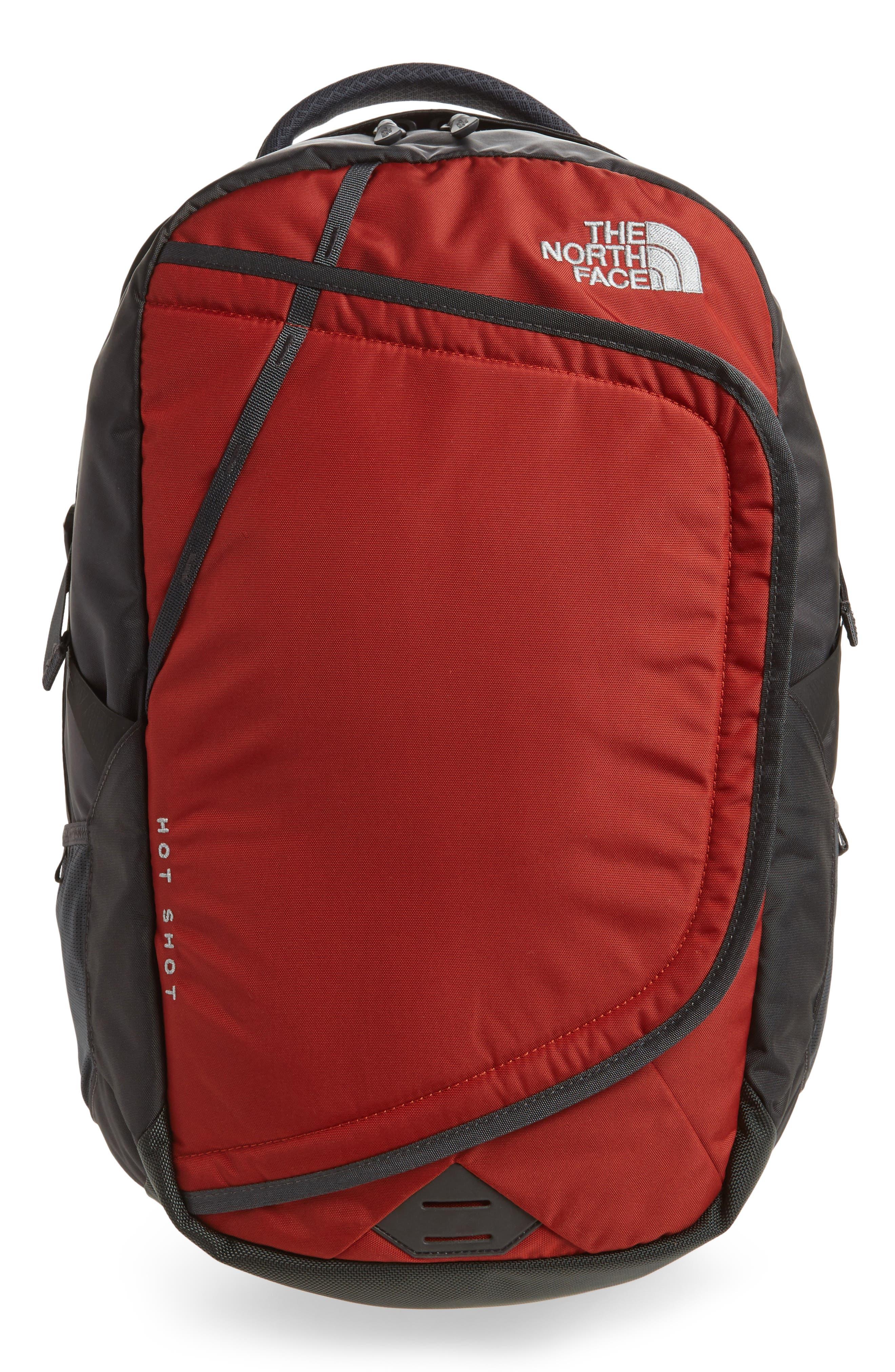Hot Shot Backpack,                         Main,                         color, Ketchup Red/ Asphalt Grey