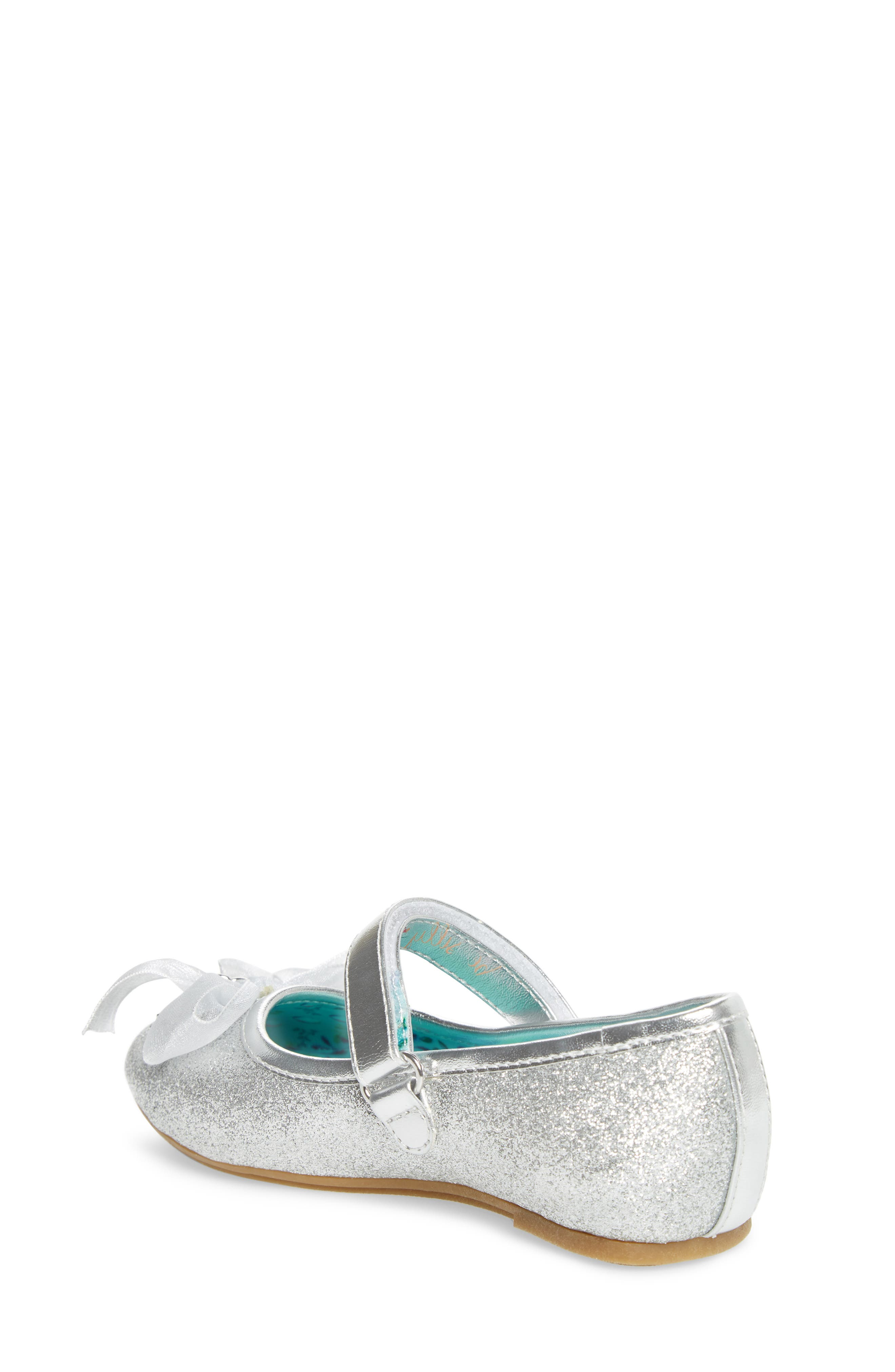 Camille Glitter Ballet Flat,                             Alternate thumbnail 2, color,                             Silver