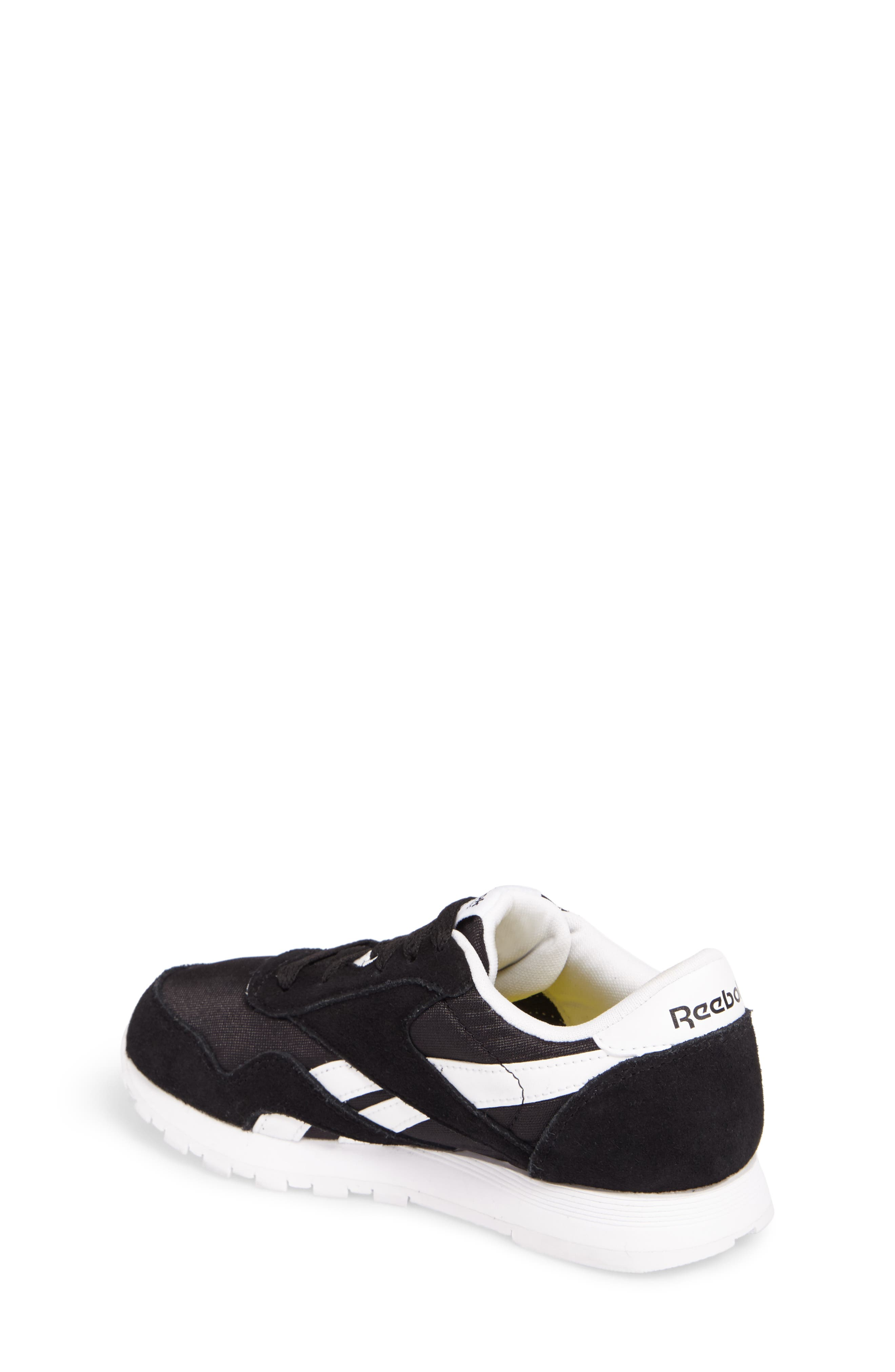 Classic Nylon Sneaker,                             Alternate thumbnail 2, color,                             Black/ White