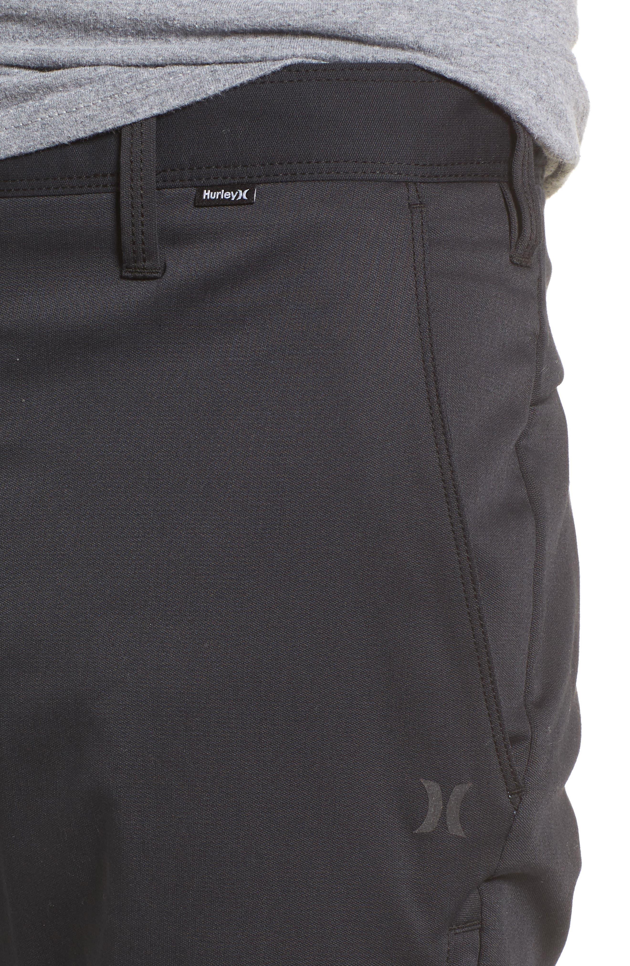 Covert Slim Fit Crop Pants,                             Alternate thumbnail 4, color,                             Black