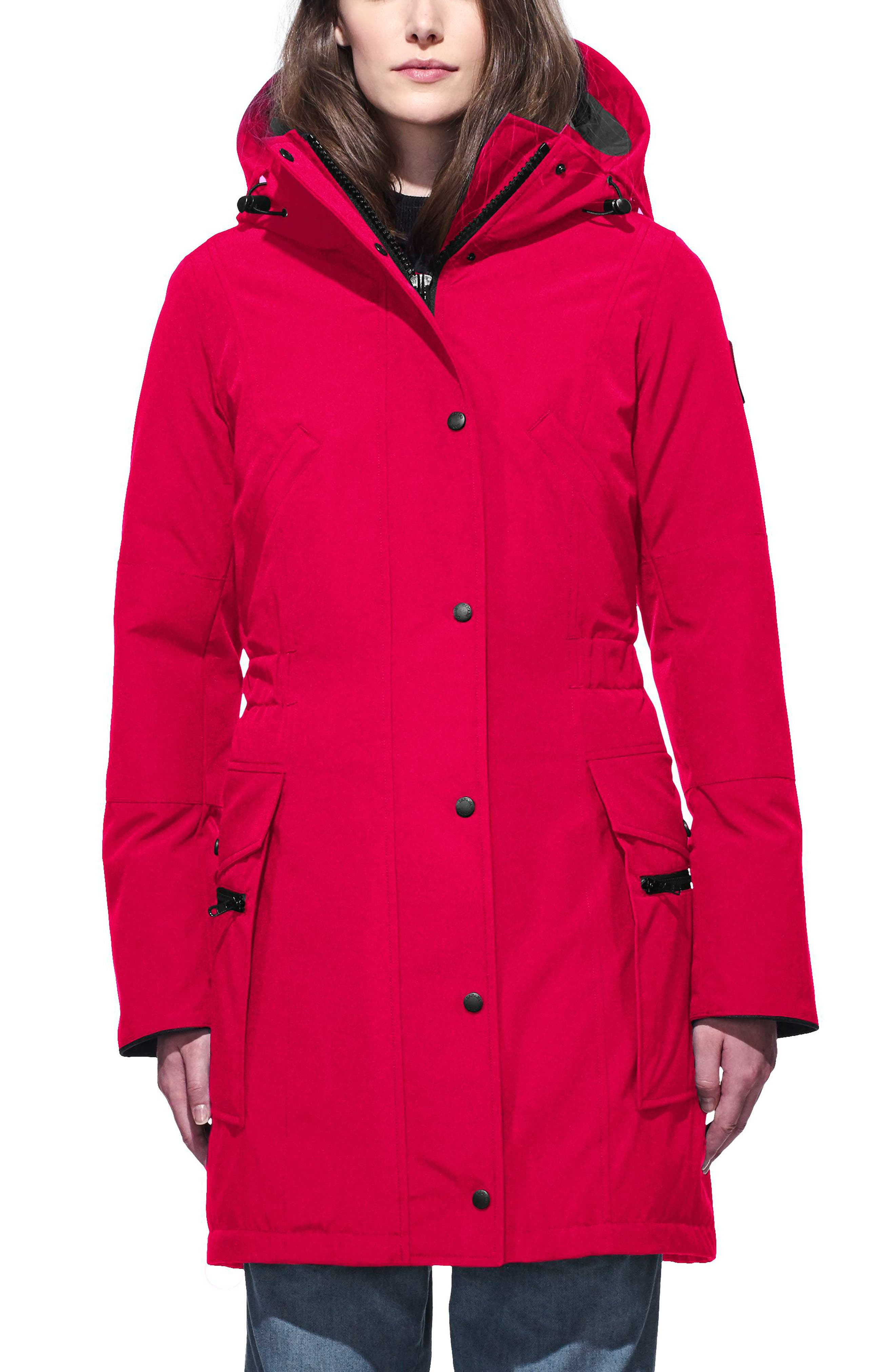 Kinley Insulated Parka,                             Main thumbnail 1, color,                             Red