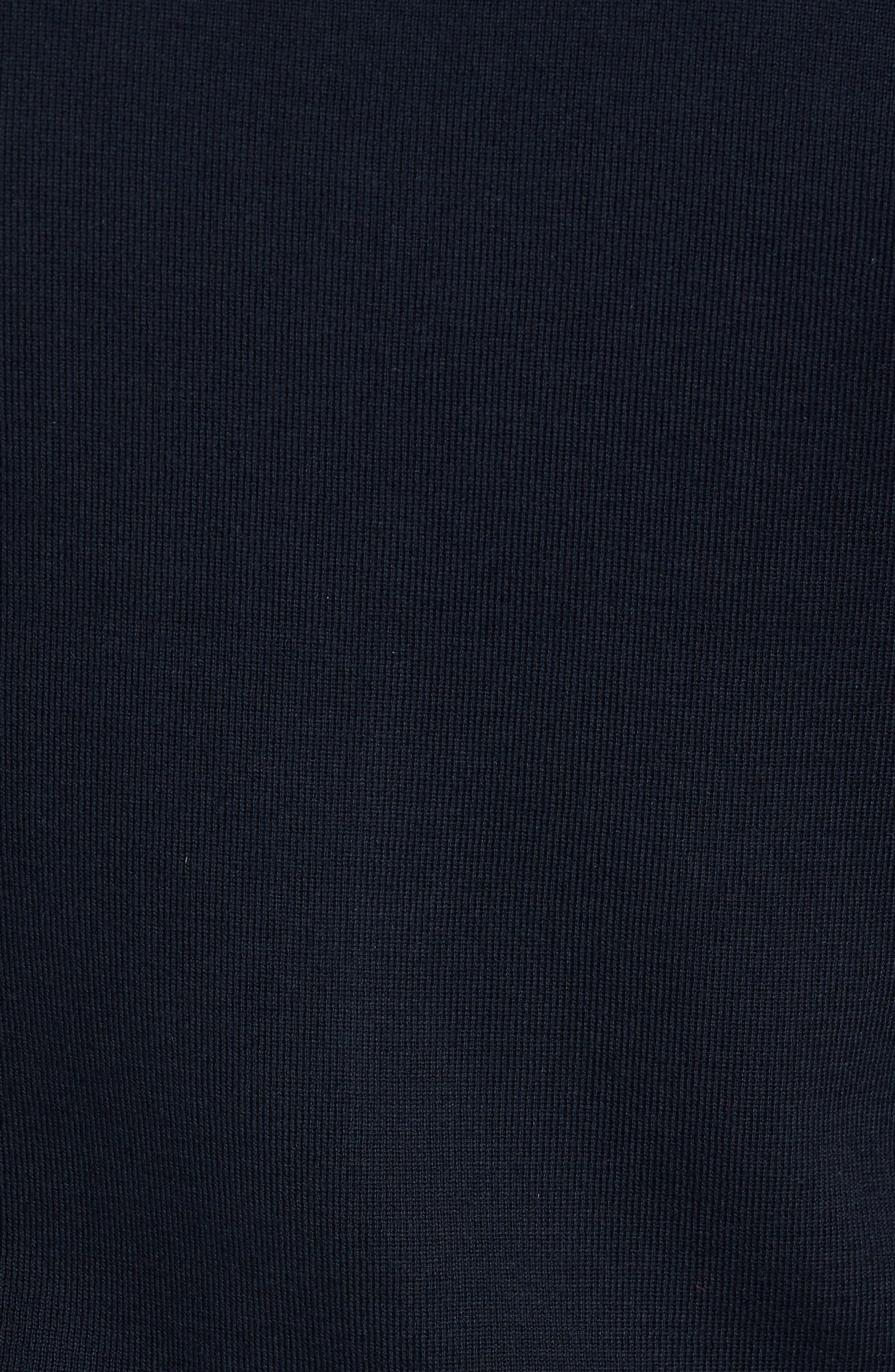 BI Quilt Front Knit Track Jacket,                             Alternate thumbnail 5, color,                             Navy