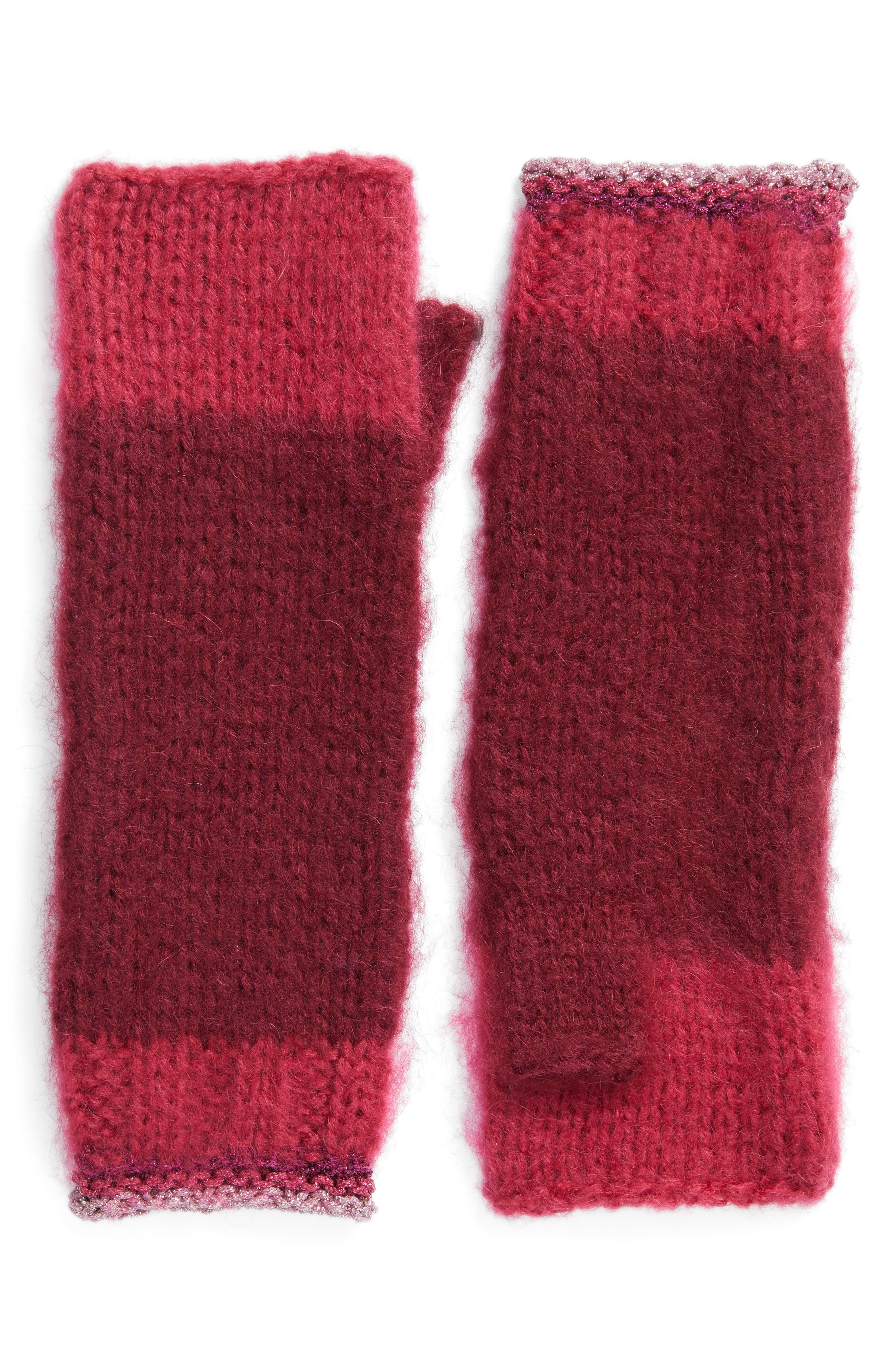 Metallic Tipped Arm Warmers,                         Main,                         color, Burgundy Combo