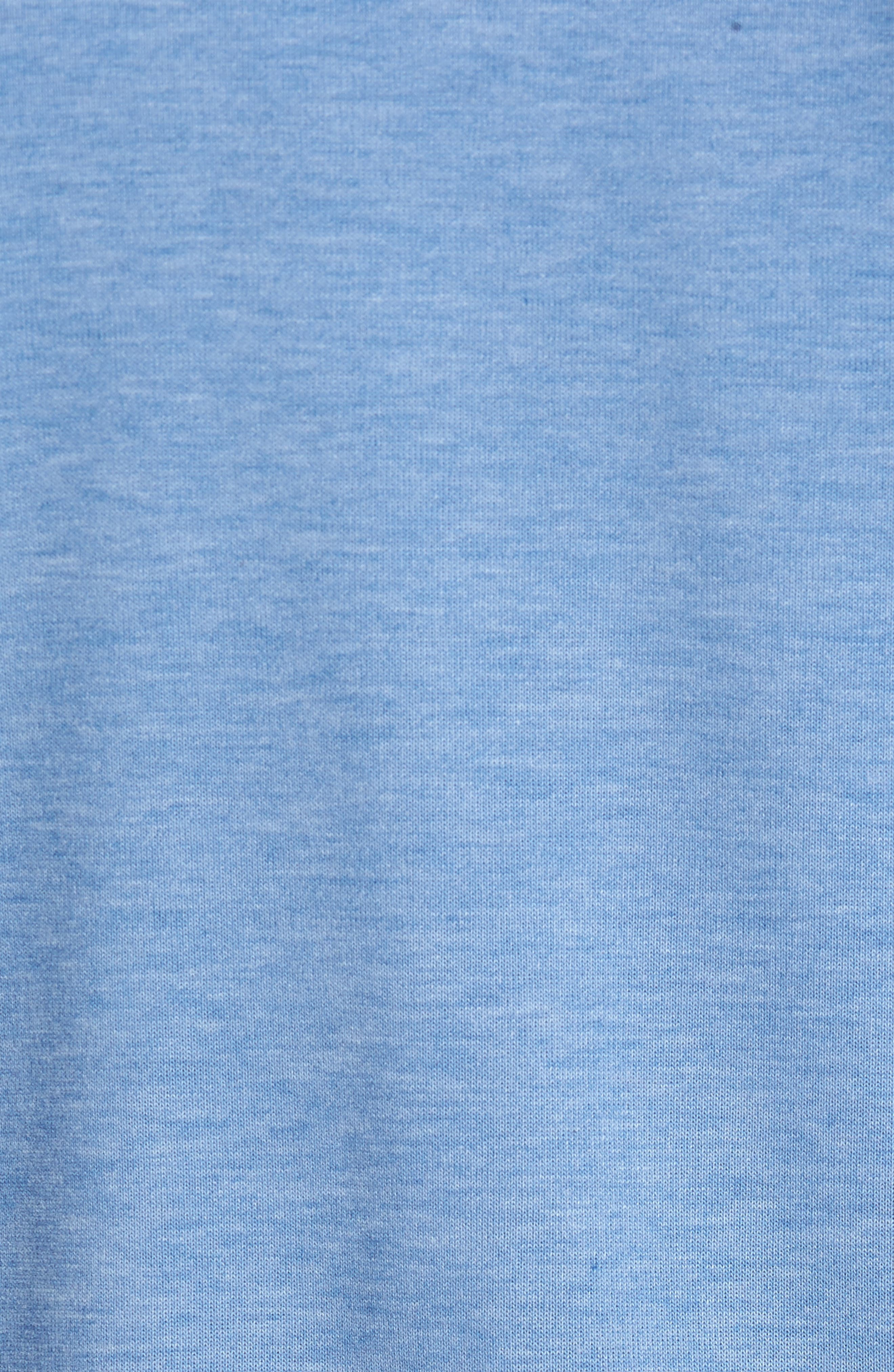Long Sleeve Henley,                             Alternate thumbnail 5, color,                             Dazzling Blue Heather