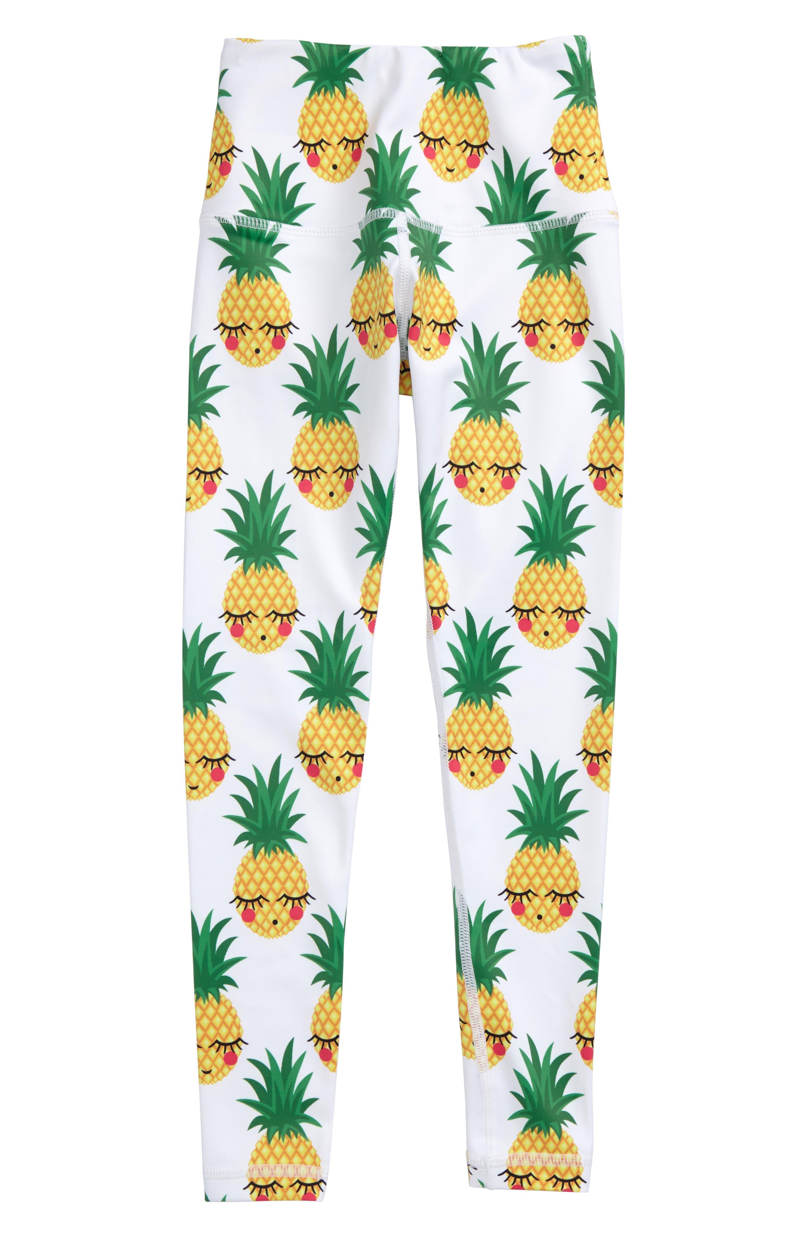 Flexi Lexi Pineapple Print Leggings (Little Girls & Big Girls)