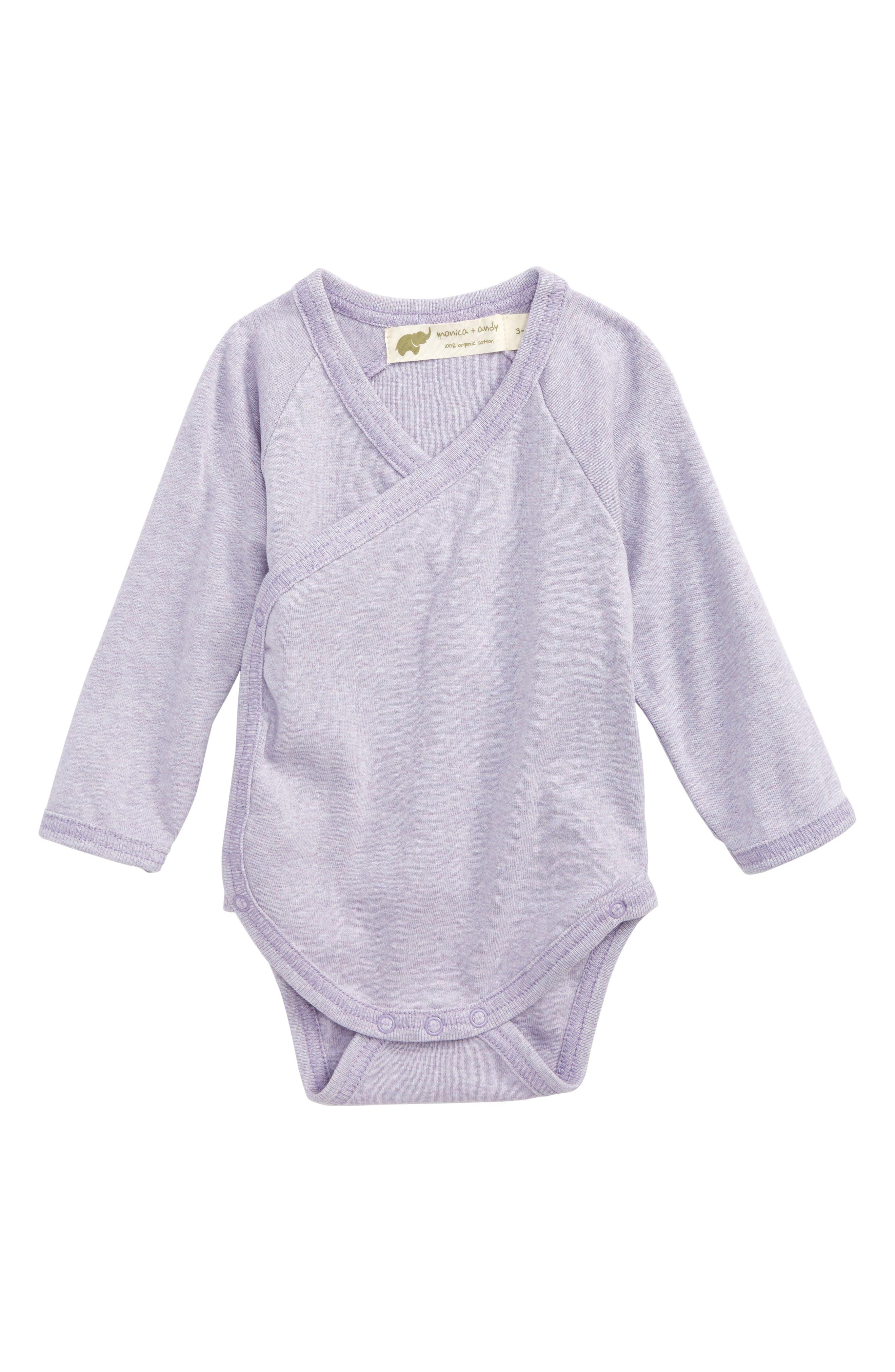 Monica + Andy Lucky Organic Cotton Bodysuit (Baby Girls)