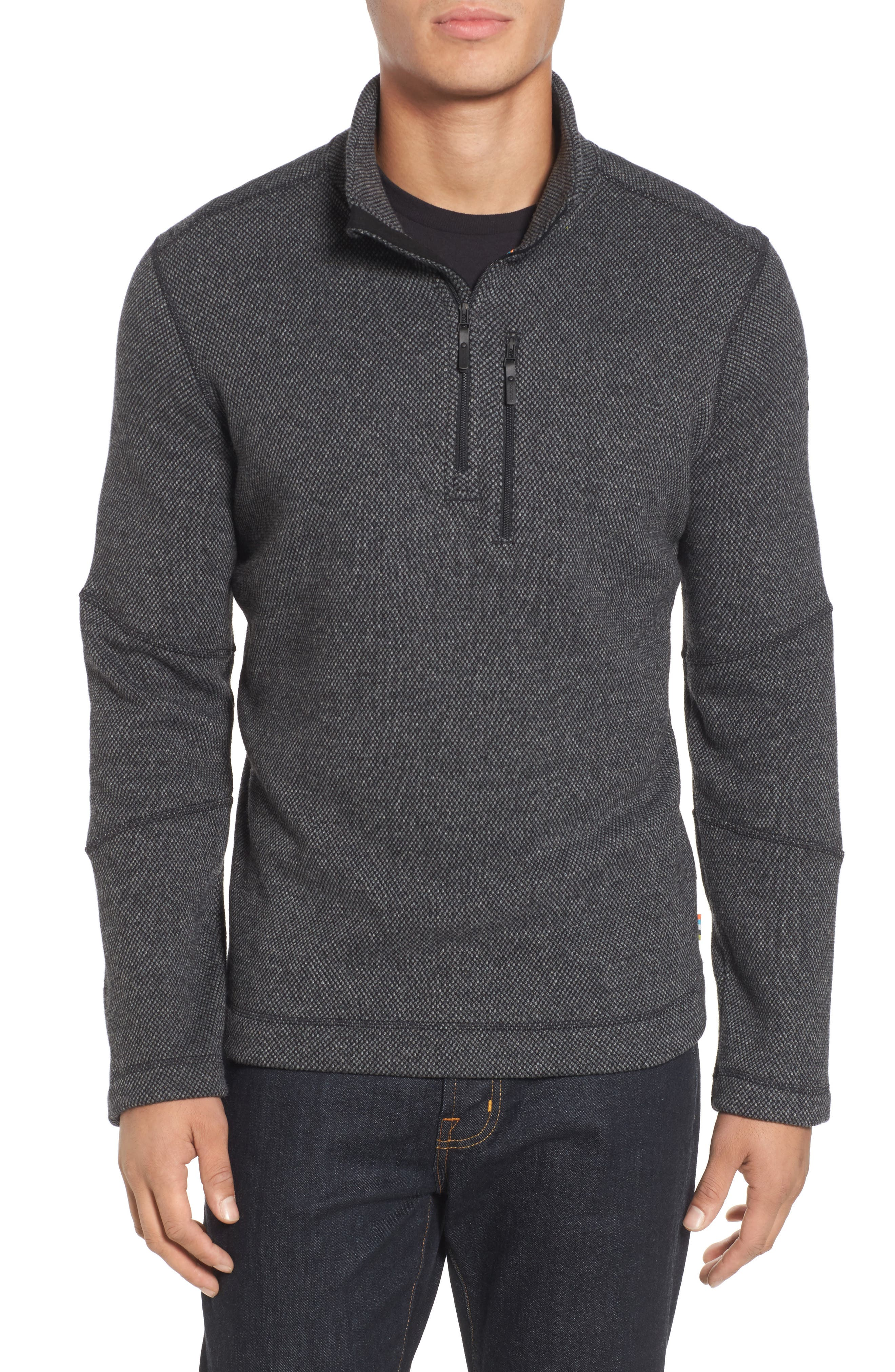 Heritage Trail Fleece Pullover,                             Main thumbnail 1, color,                             Charcoal Heather