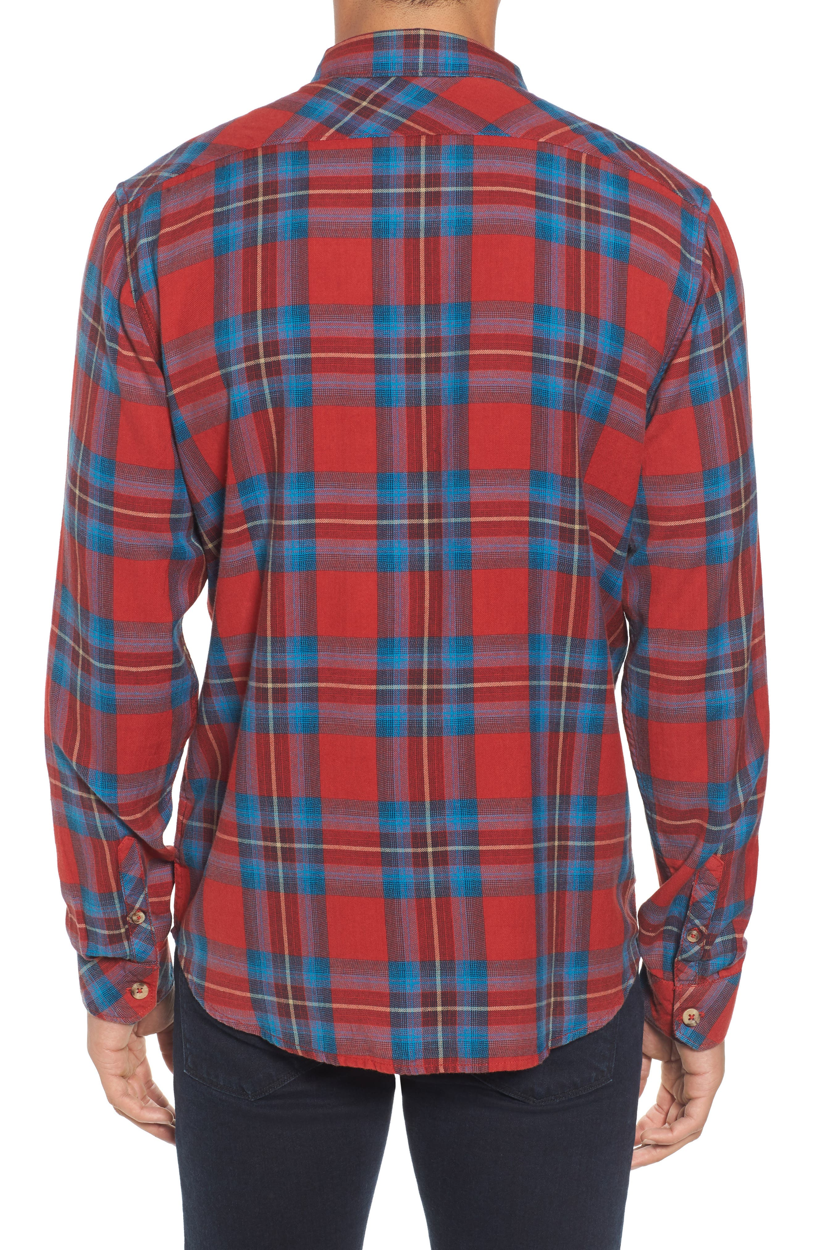 Freemont Flannel Shirt,                             Alternate thumbnail 2, color,                             Red
