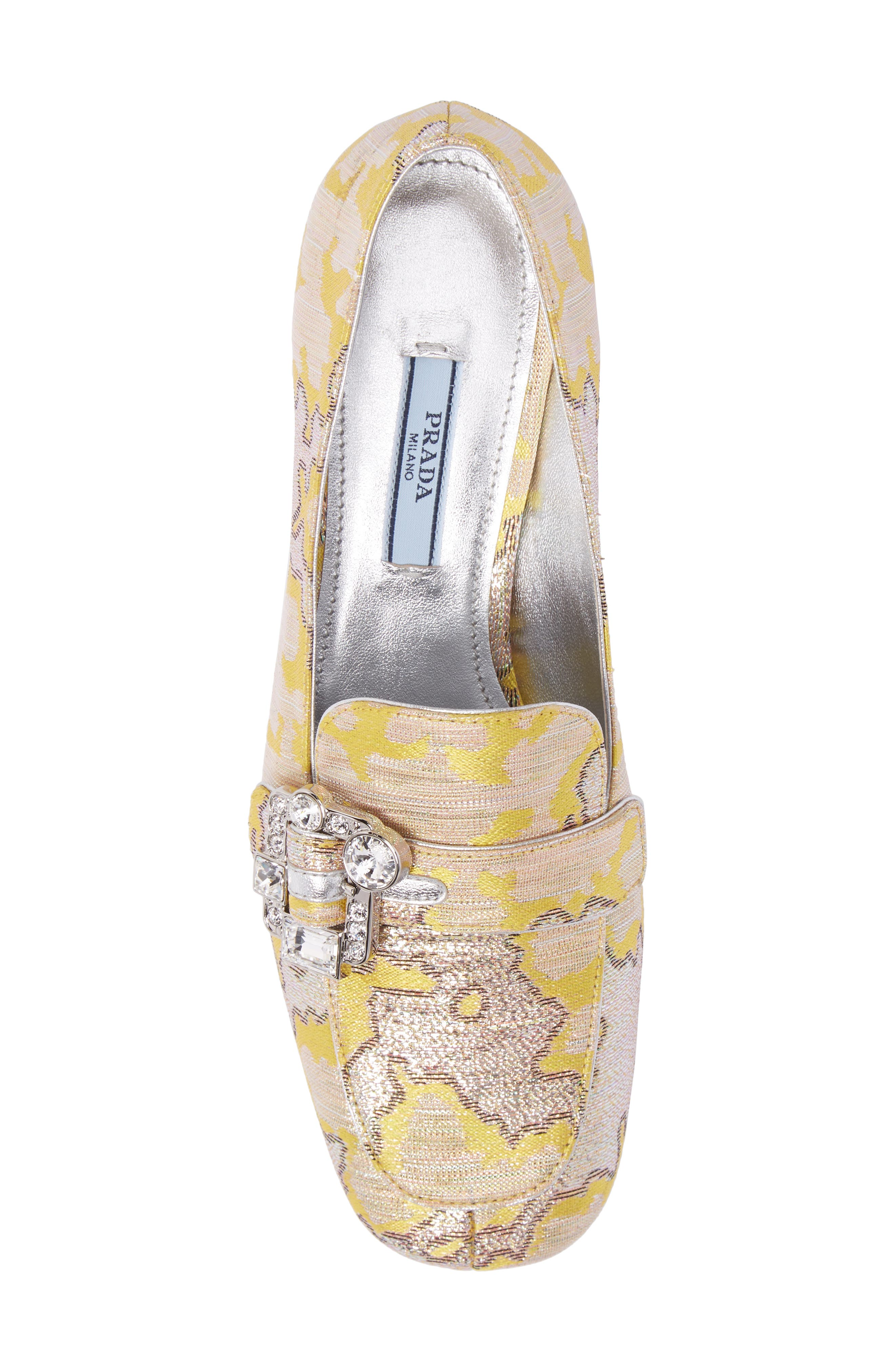 Brooch Loafer Pump,                             Alternate thumbnail 5, color,                             Giallo