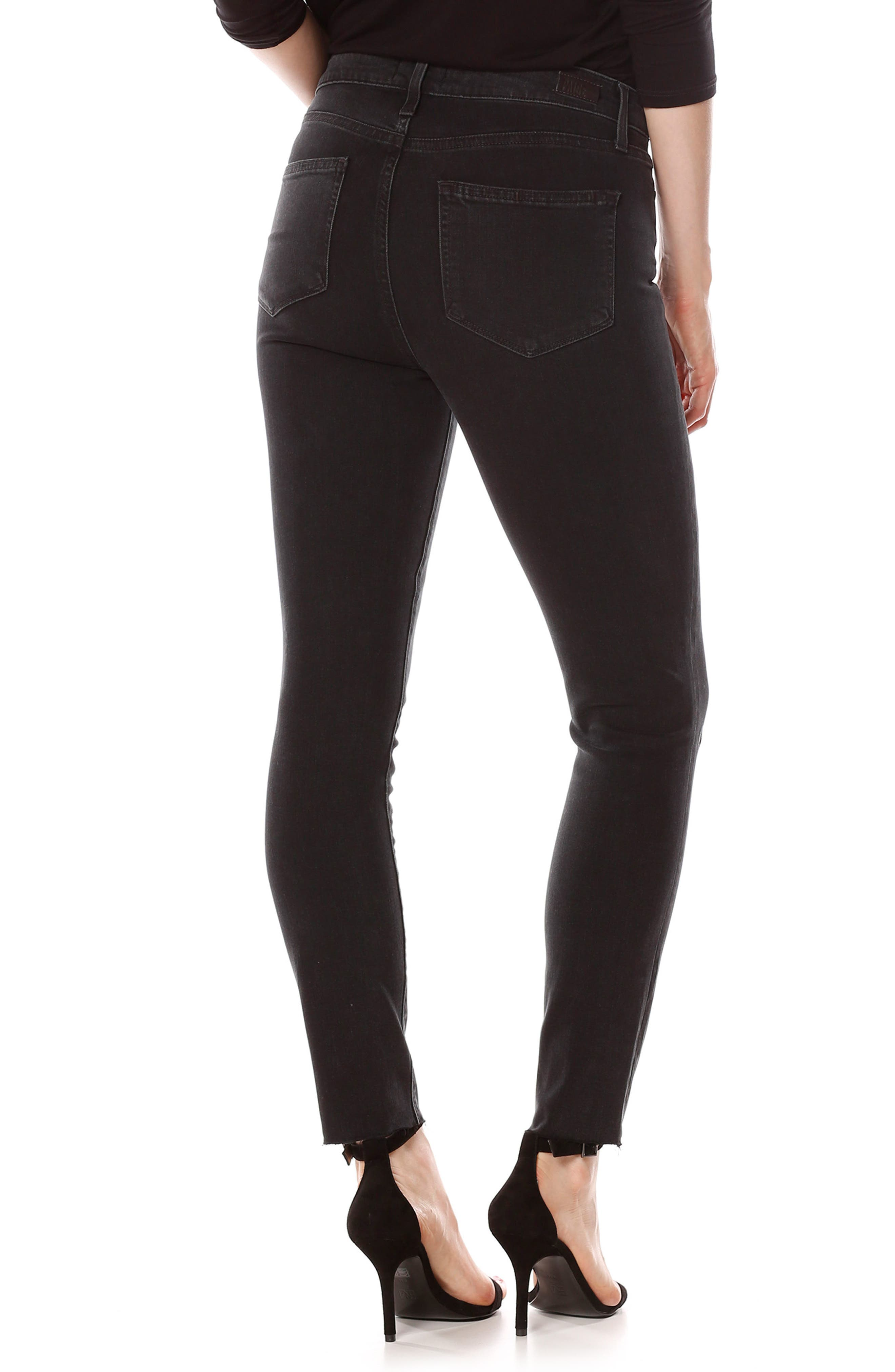 Alternate Image 2  - PAIGE Transcend - Verdugo Ankle Skinny Jeans (Lippy Embroidery)