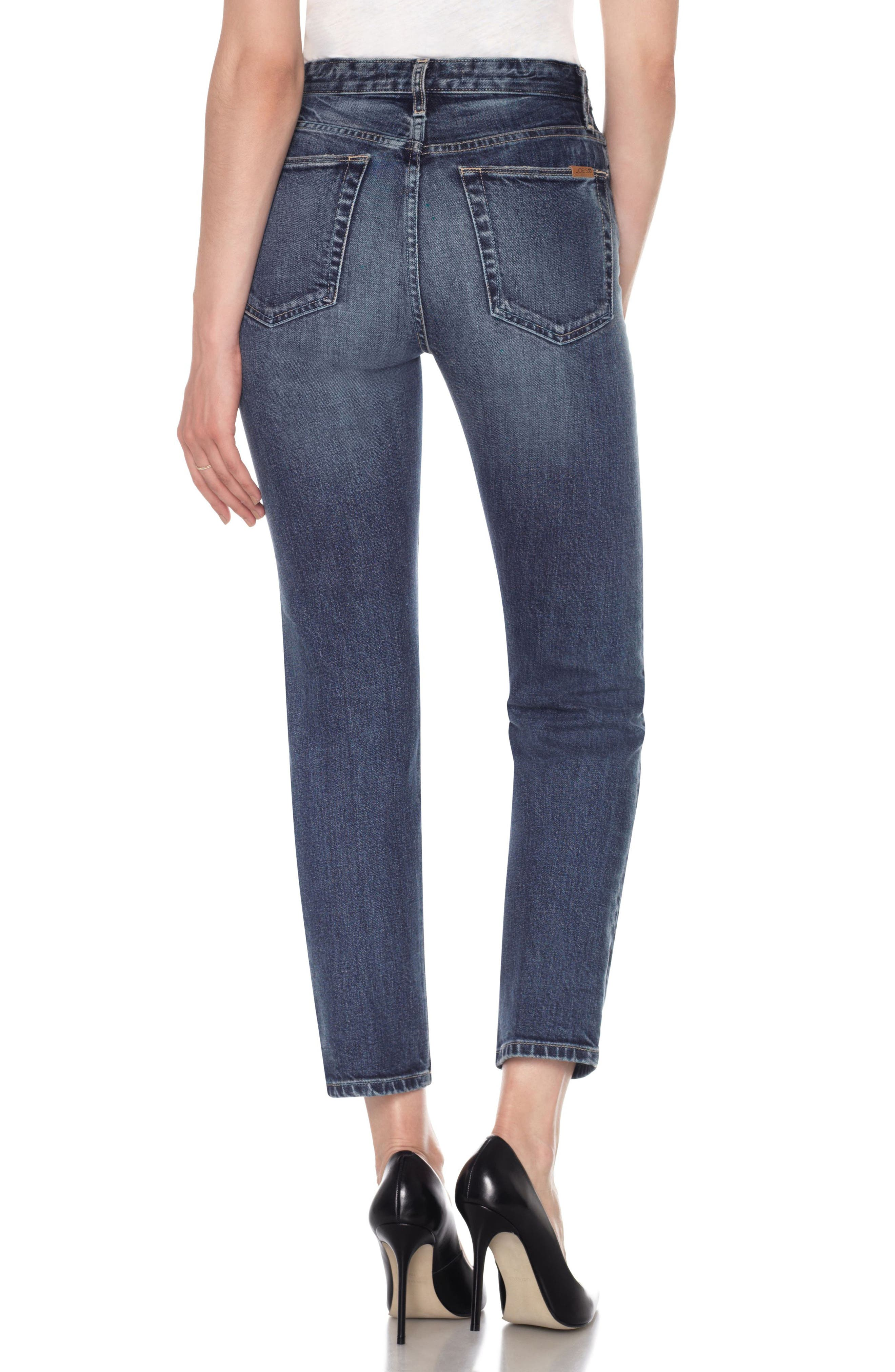 Smith High Waist Ankle Slim Boyfriend Jeans,                             Alternate thumbnail 2, color,                             Kimbra