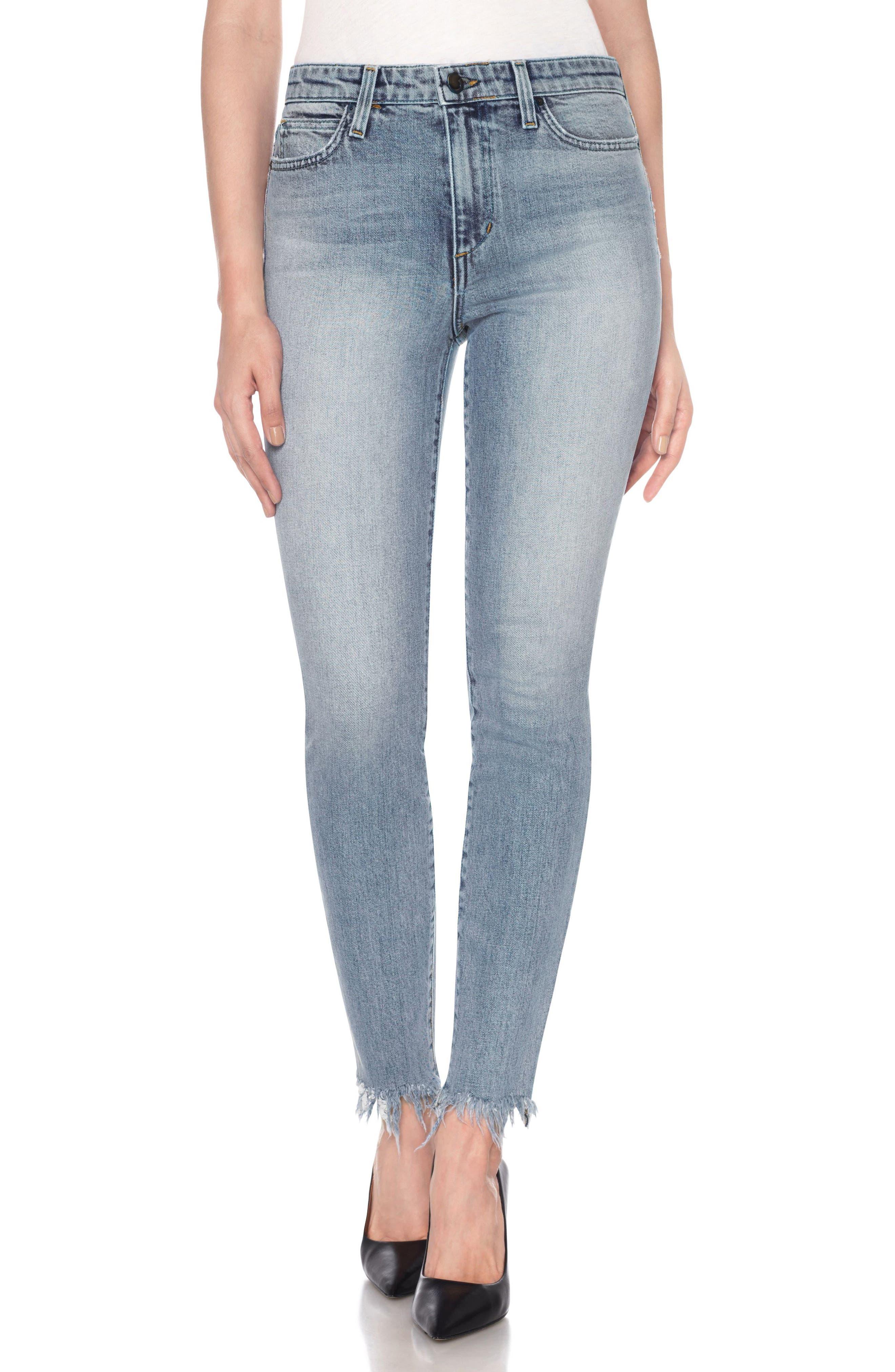 Charlie High Waist Ankle Skinny Jeans,                             Main thumbnail 1, color,                             Leeza