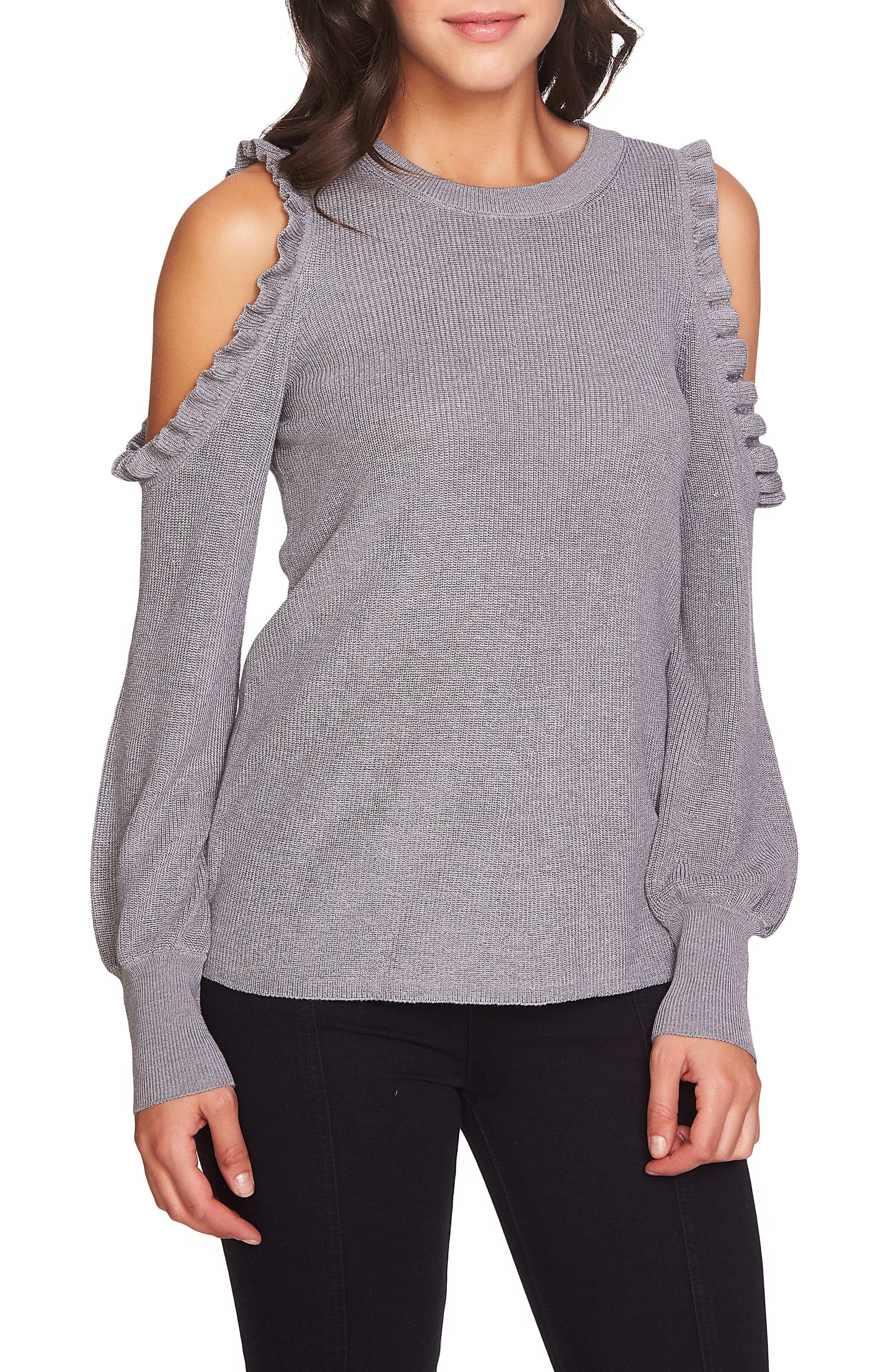 Alternate Image 1 Selected - 1.STATE Cold Shoulder Sweater