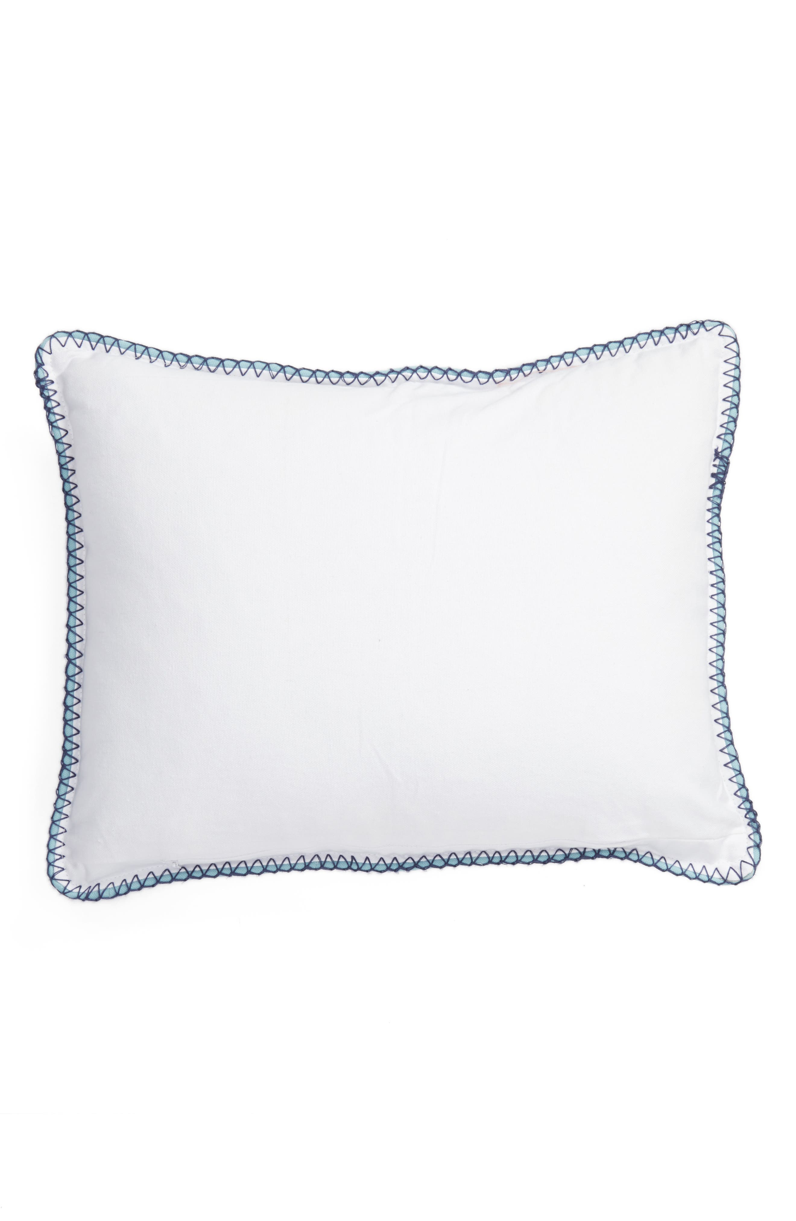 Vera Embroidered Pillow,                             Alternate thumbnail 4, color,                             Ivory