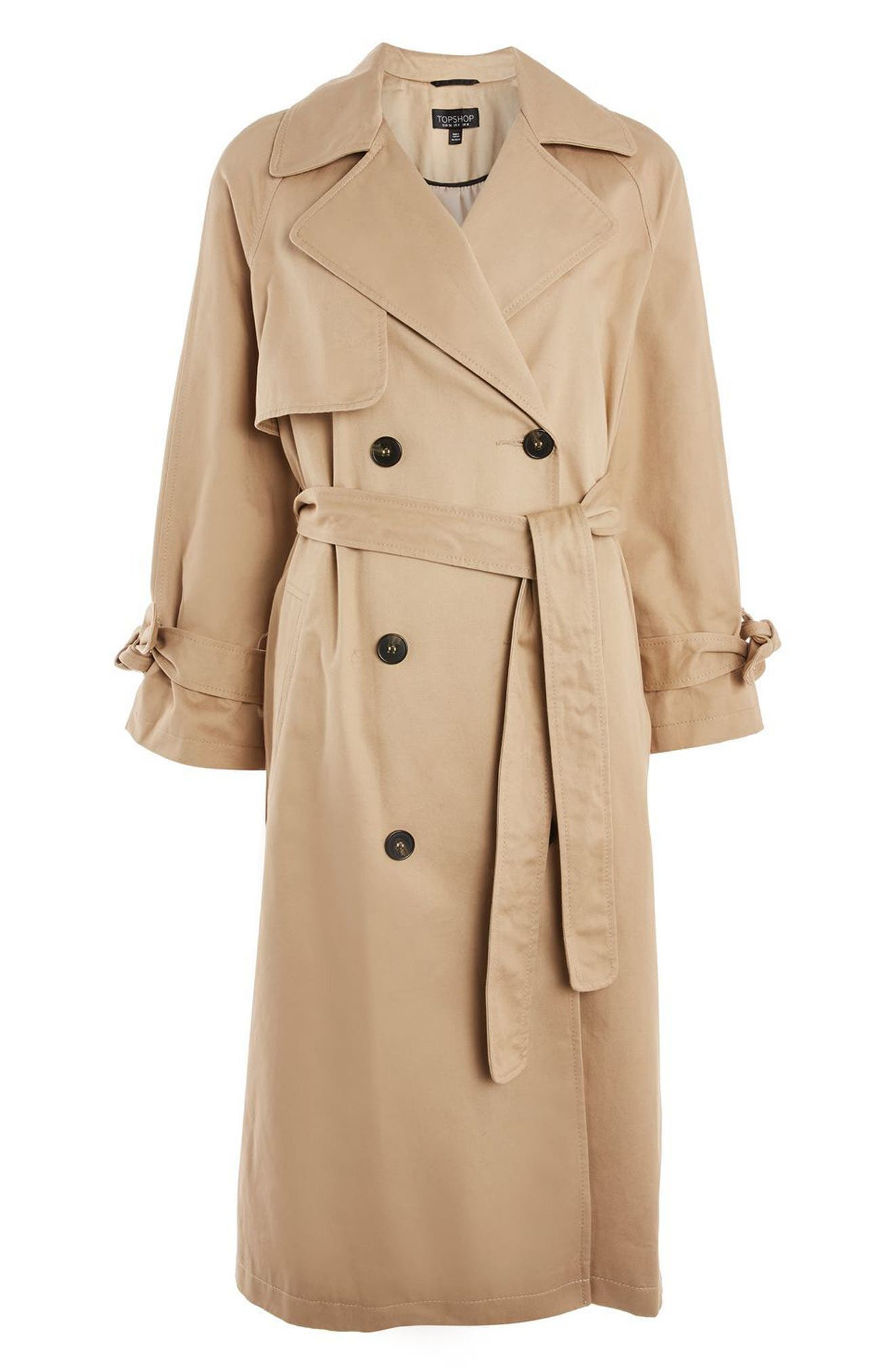 Editor's Double Breasted Trench Coat,                             Alternate thumbnail 4, color,                             Stone