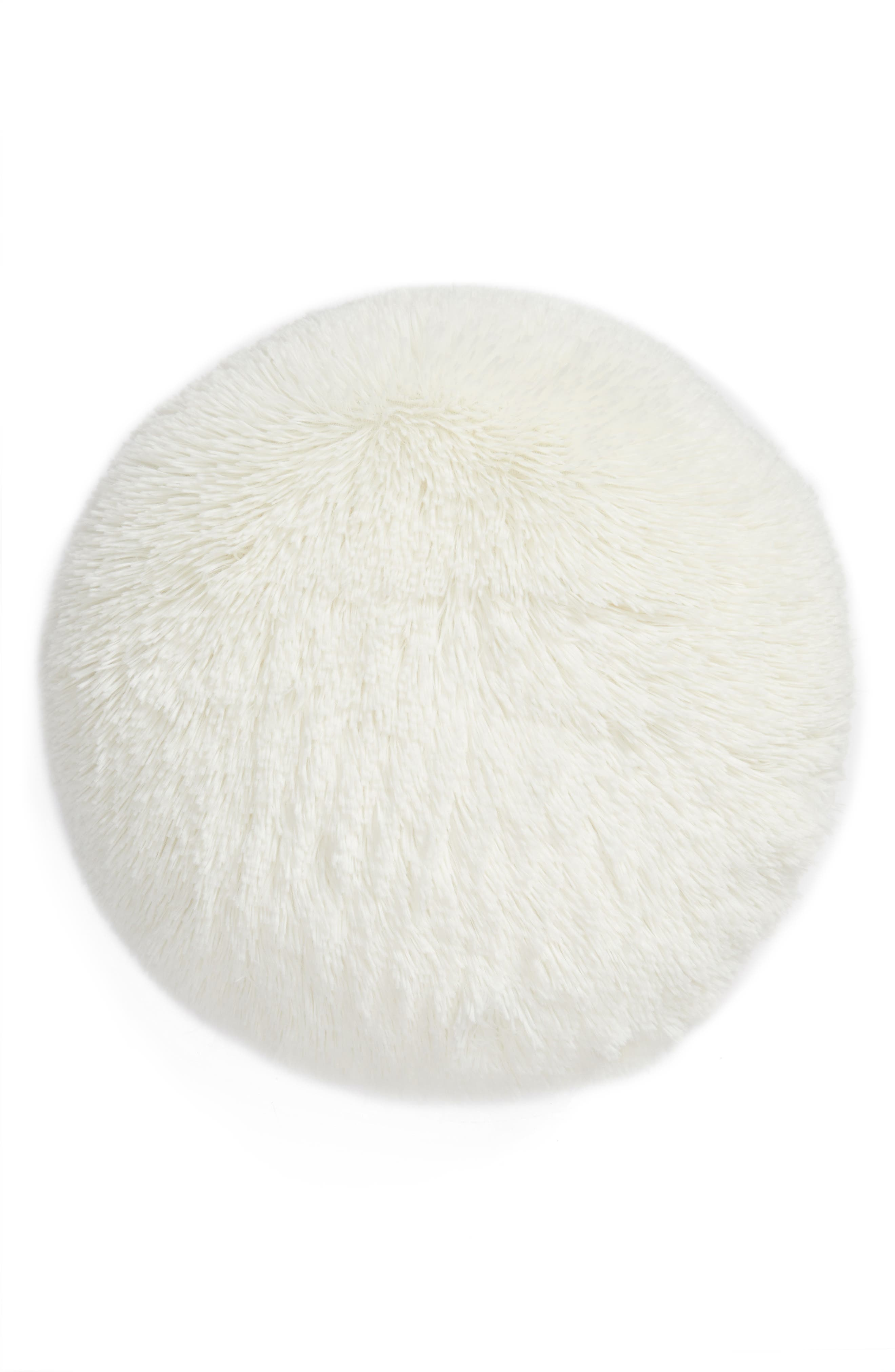 Main Image - Nordstrom at Home Feather Faux Fur Pillow