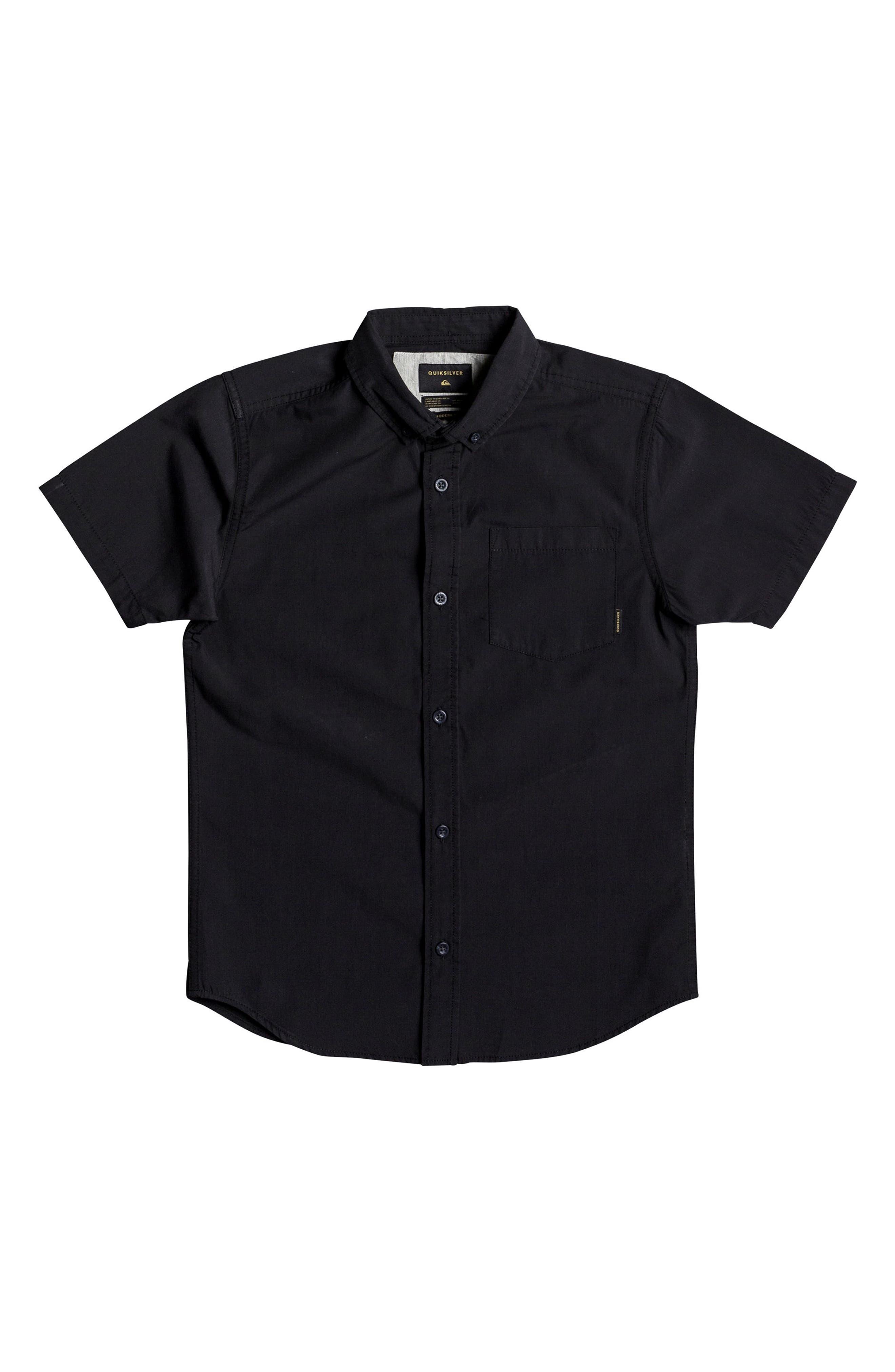 Main Image - Quiksilver Short Sleeve Button Down Shirt (Big Boys)