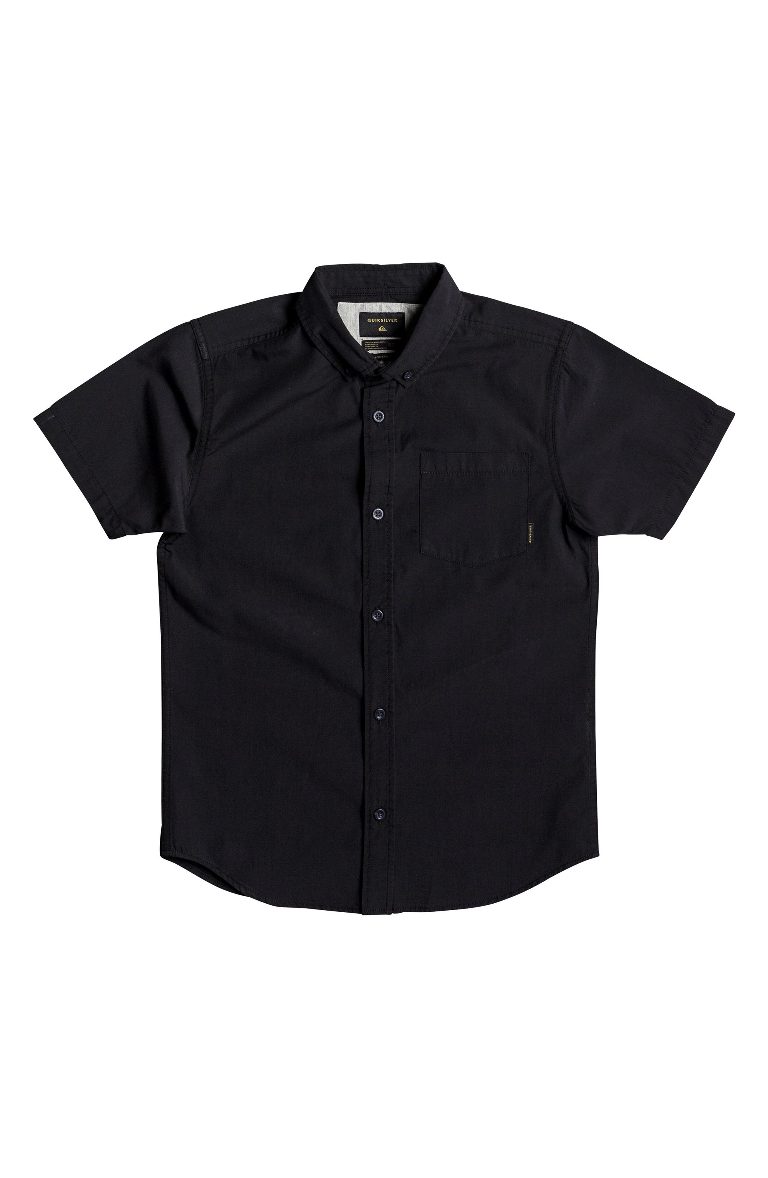 Short Sleeve Button Down Shirt,                         Main,                         color, Tarmac