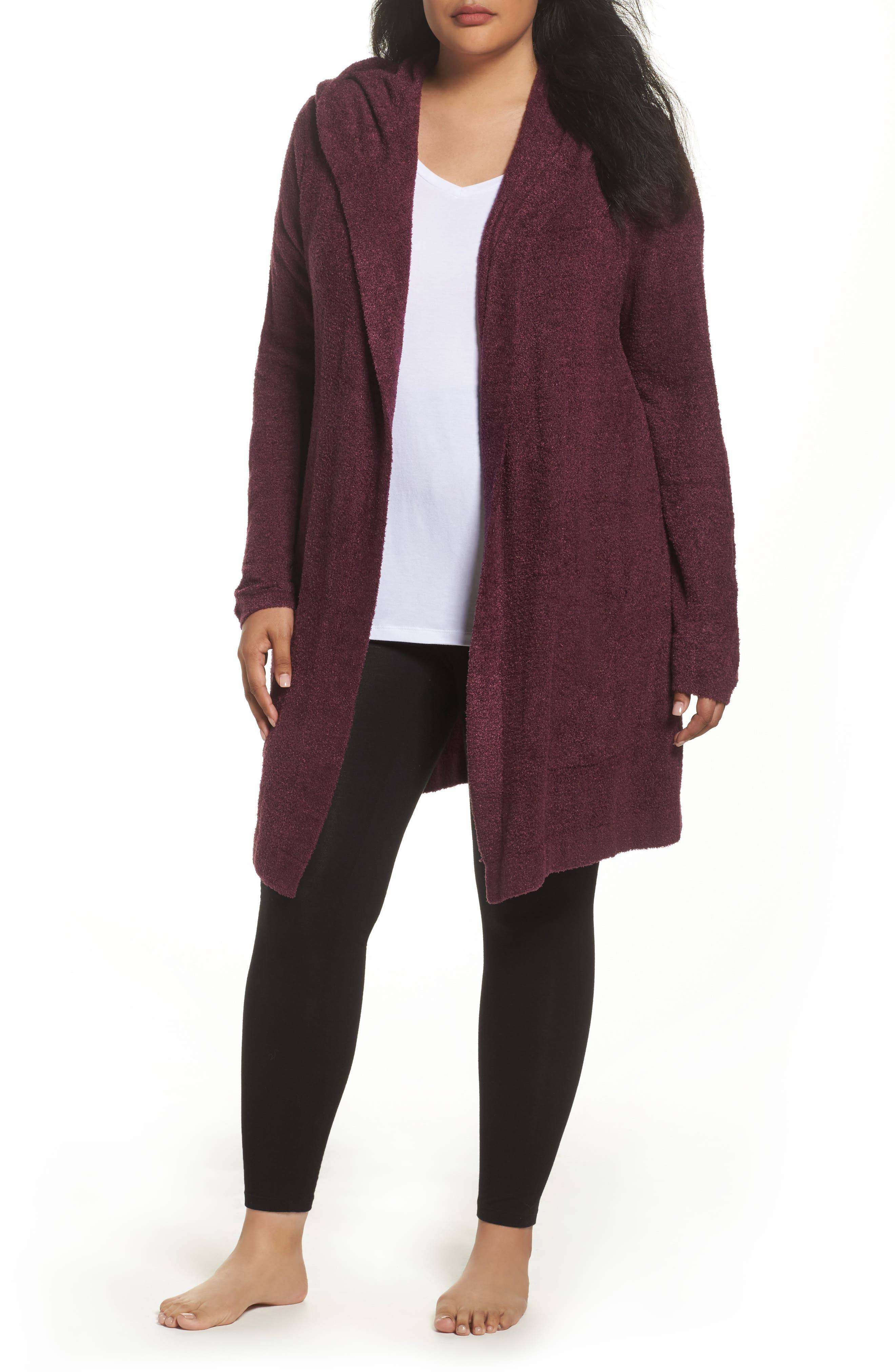 Barefoot Dreams® Cozychic Lite® Coastal Hooded Cardigan (Plus Size)