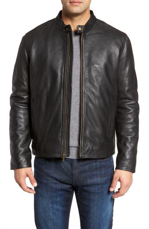 Men S Leather Genuine Coats Jackets Nordstrom